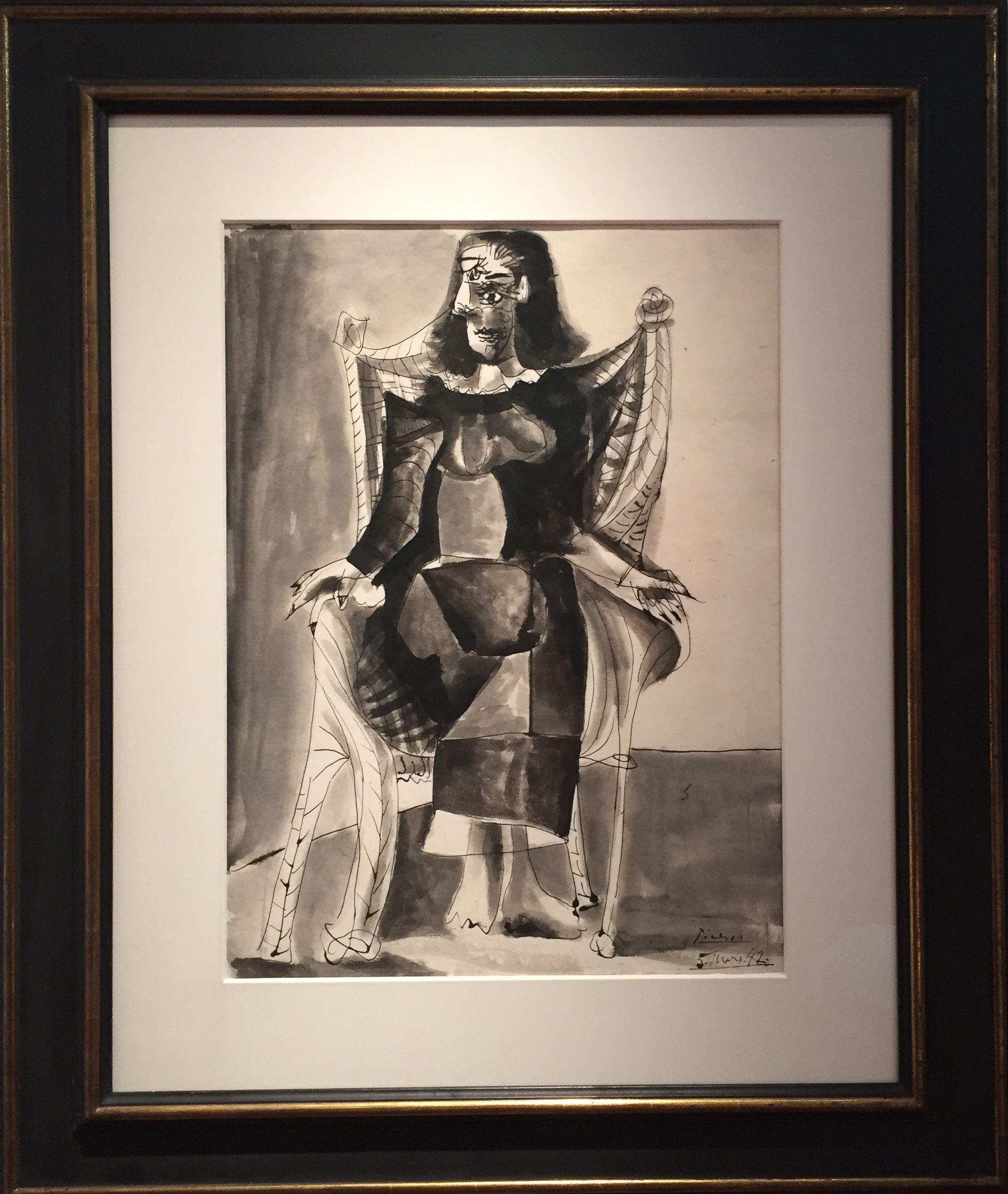 """Picasso's """"Femme Assise (Dora Maar)"""""""