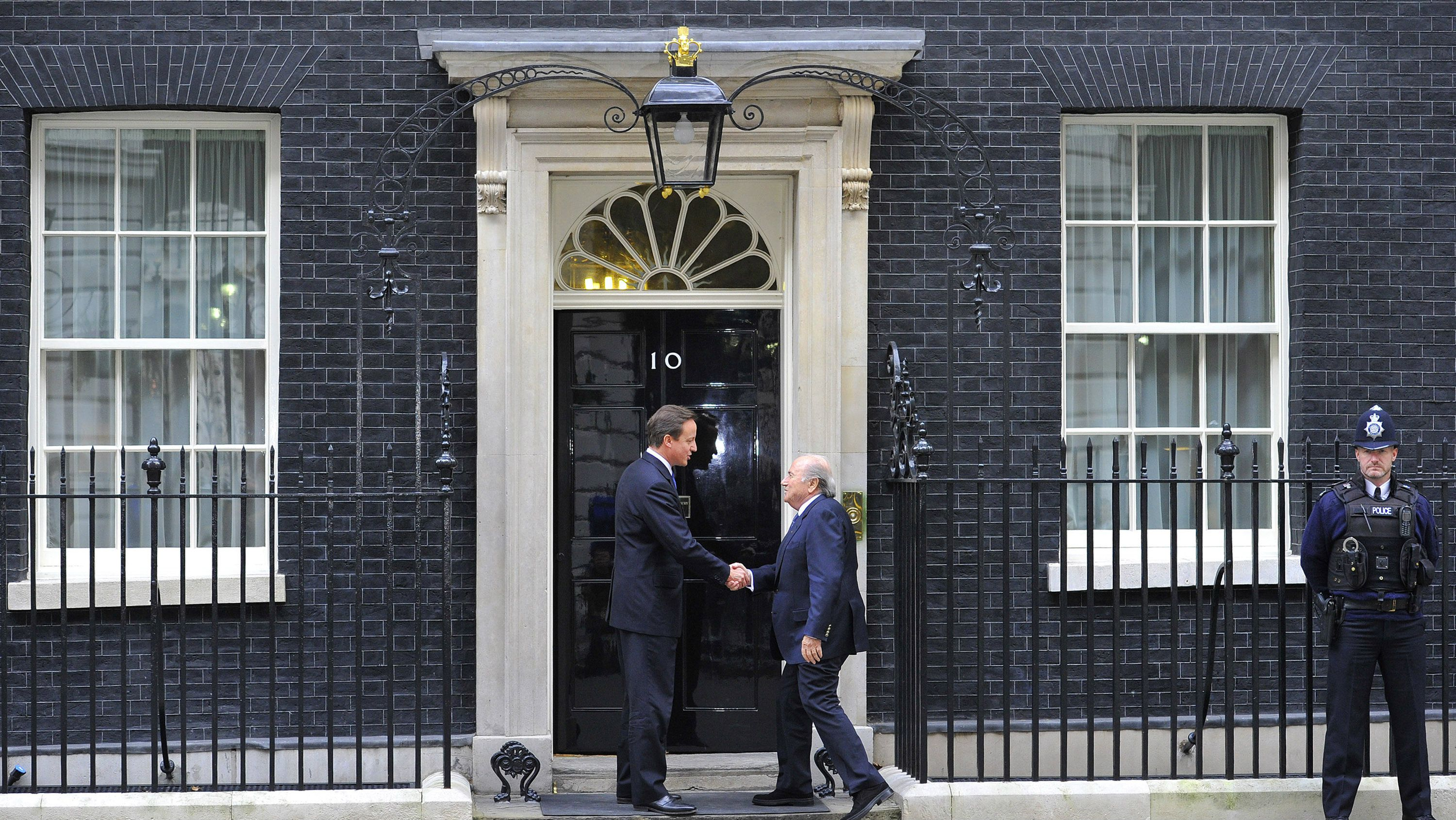 Sepp Blatter meets with David Cameron at 10 Downing St