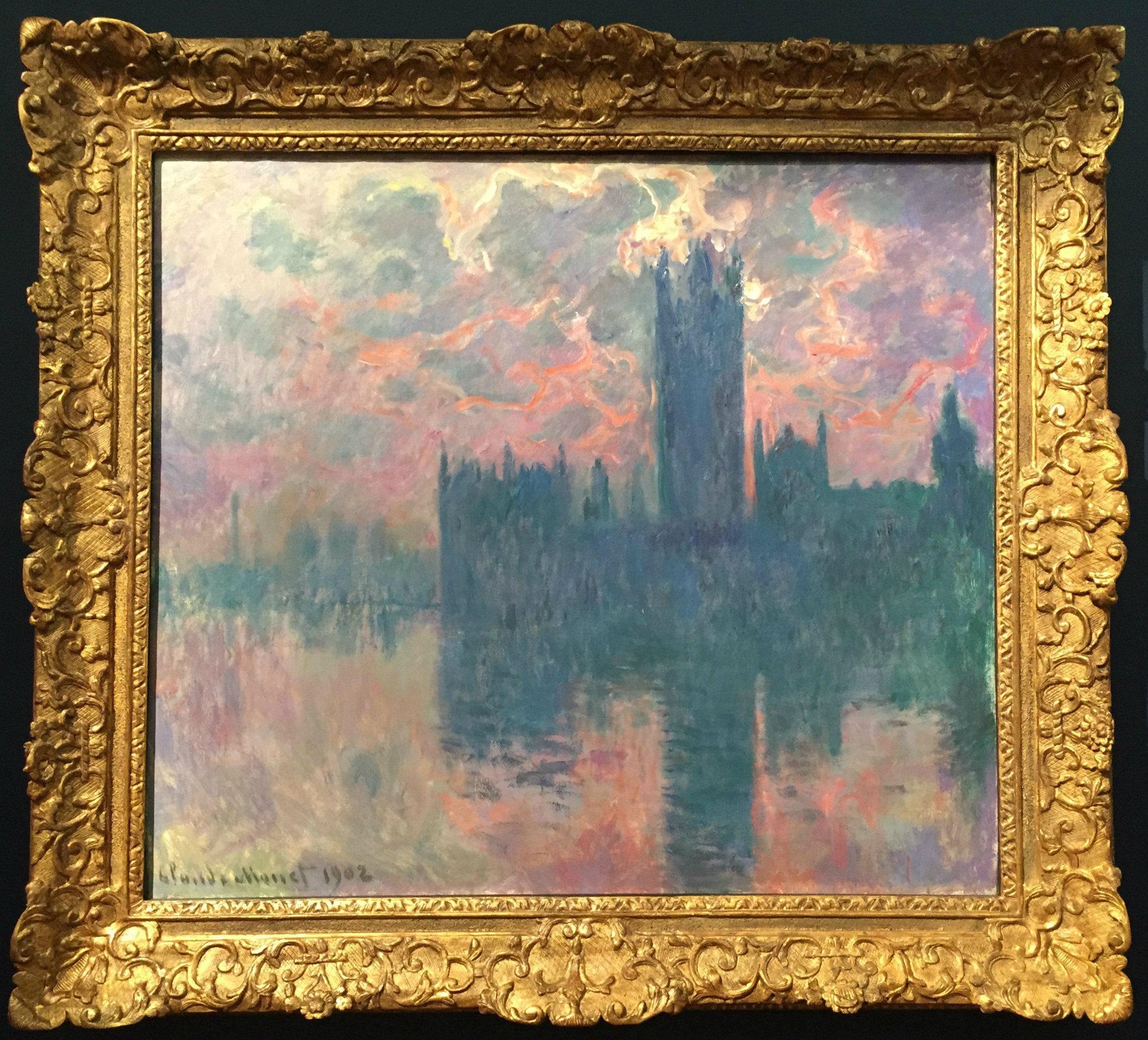 """Claude Monet's """"Le Parlement, soleil couchant"""""""
