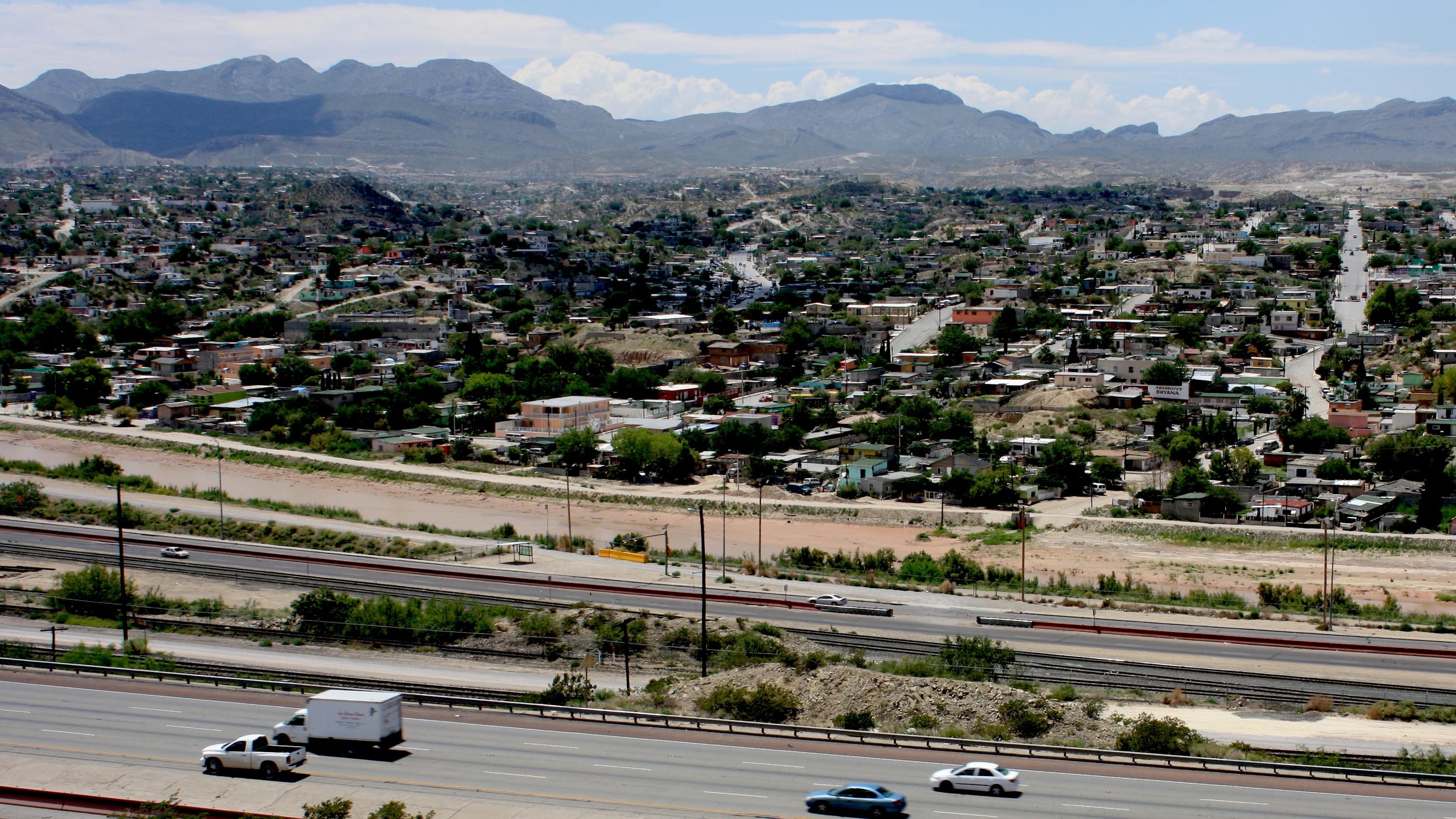A view of Ciudad Juárez, Mexico, from neighboring El Paso, Texas.