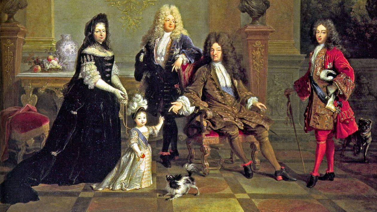 Louis XIV and family.