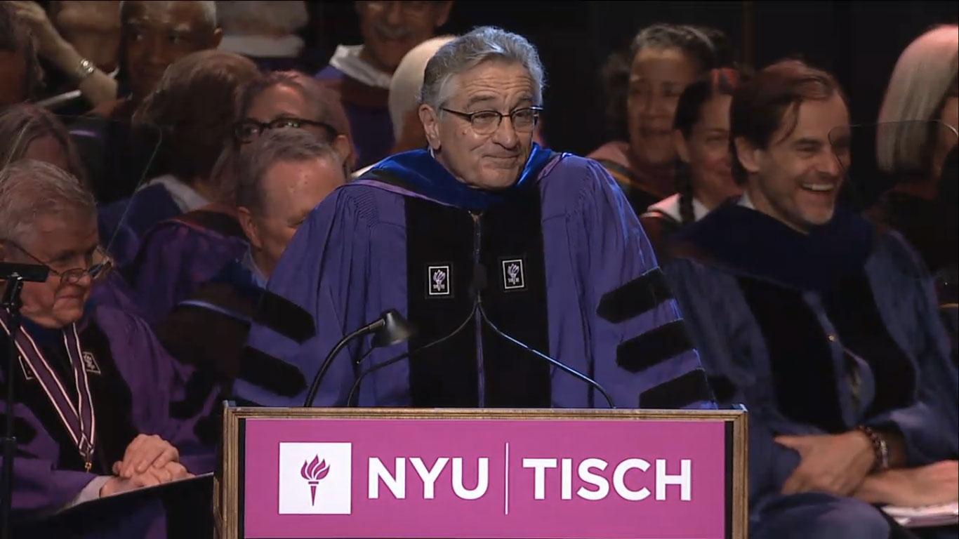 Robert De Niro NYU commencement speech