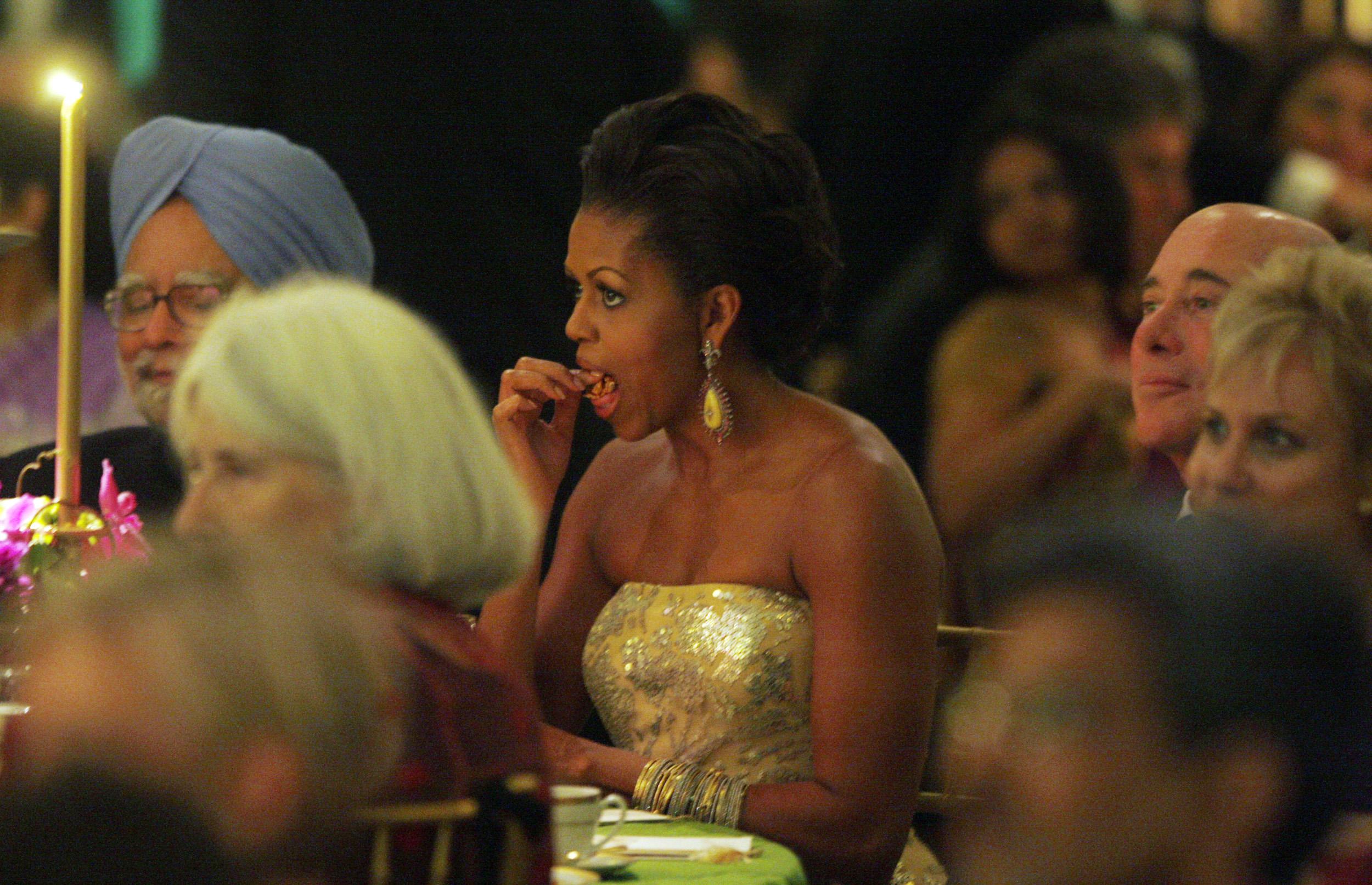 India-Michelle Obama-State dinner