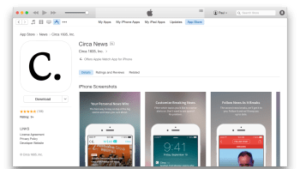 Circa in Apple App Store