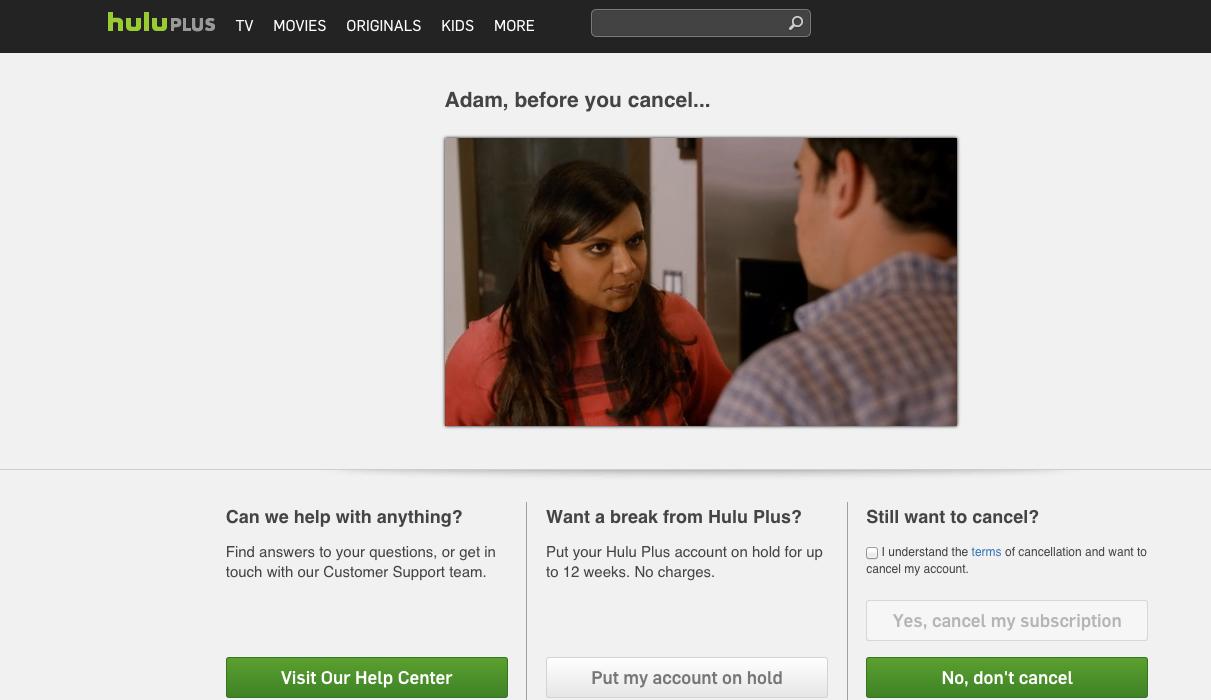 Hulu Plus cancel