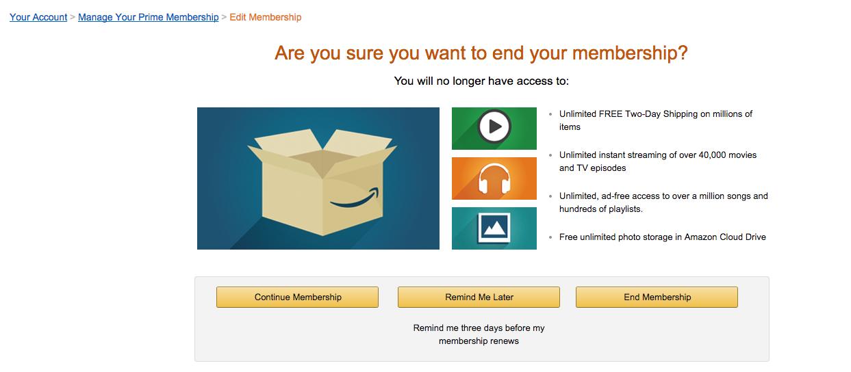 Amazon Prime Instant Video cancel