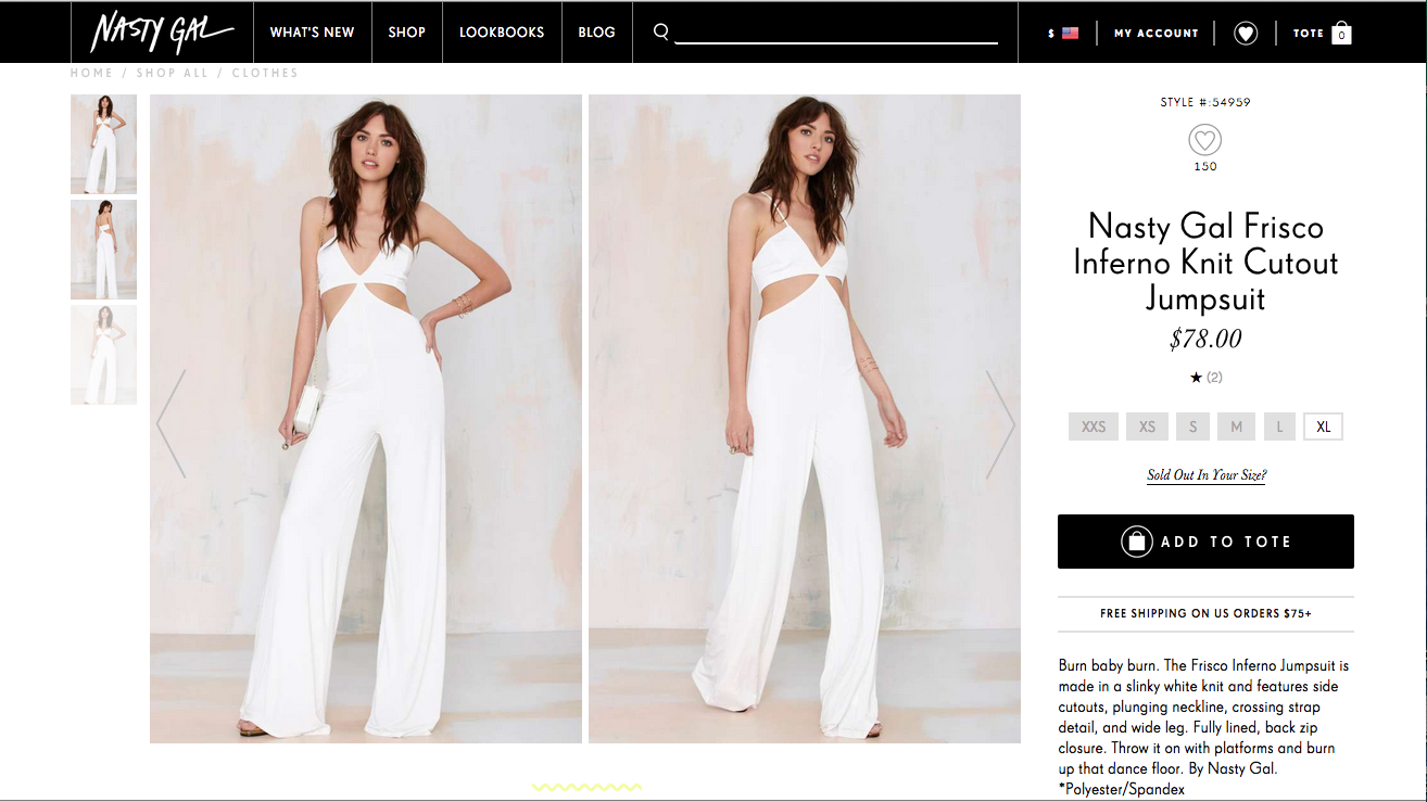 Nasty Gal's Frisco Inferno jumpsuit