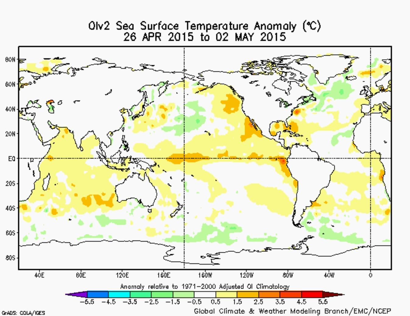 sea temp anomaly may