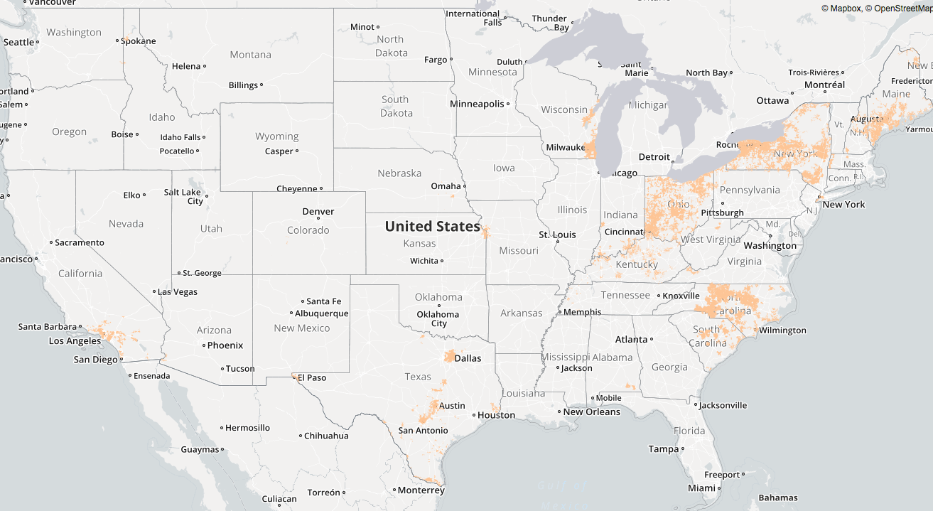 Charter Internet Coverage Map on