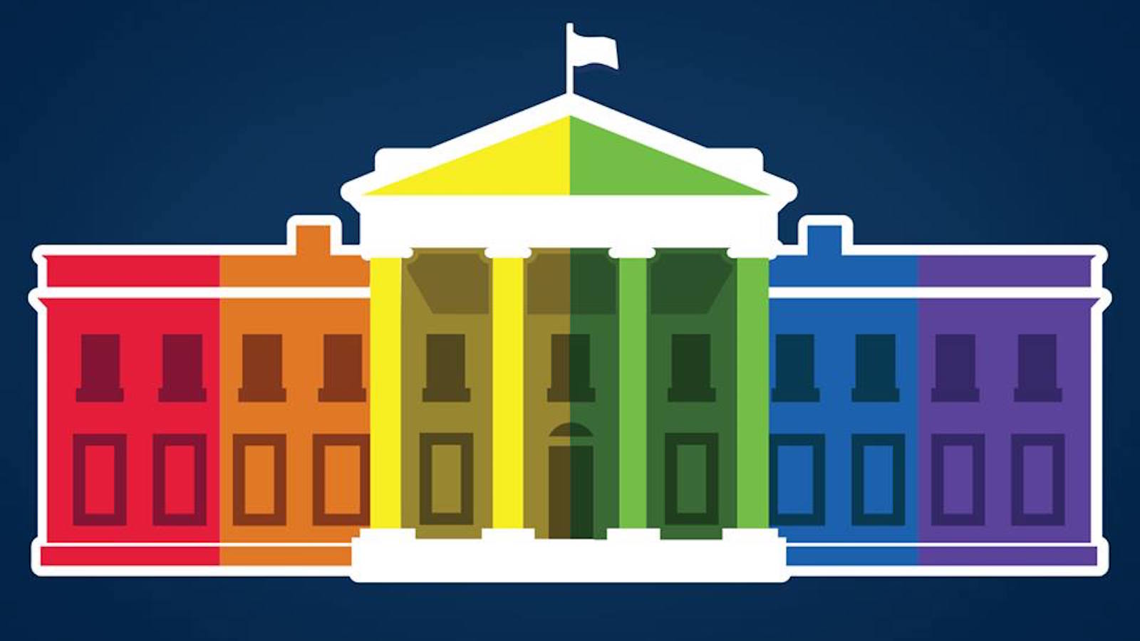 The White House turns rainbow in the new White House profile picture