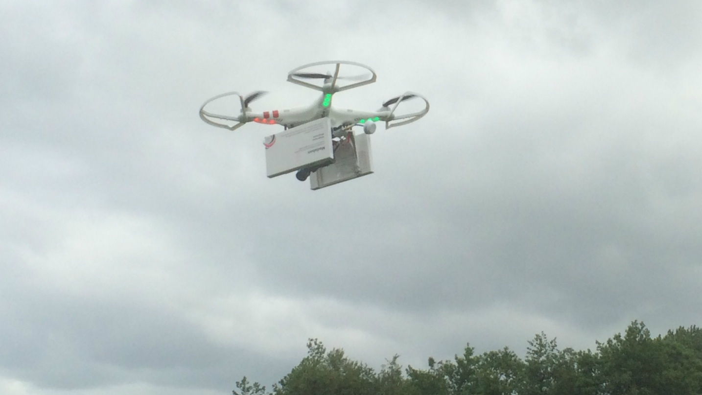 Drone carrying abortion pills.