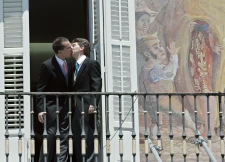 First gay wedding of an elected official from the conservative party in 2006