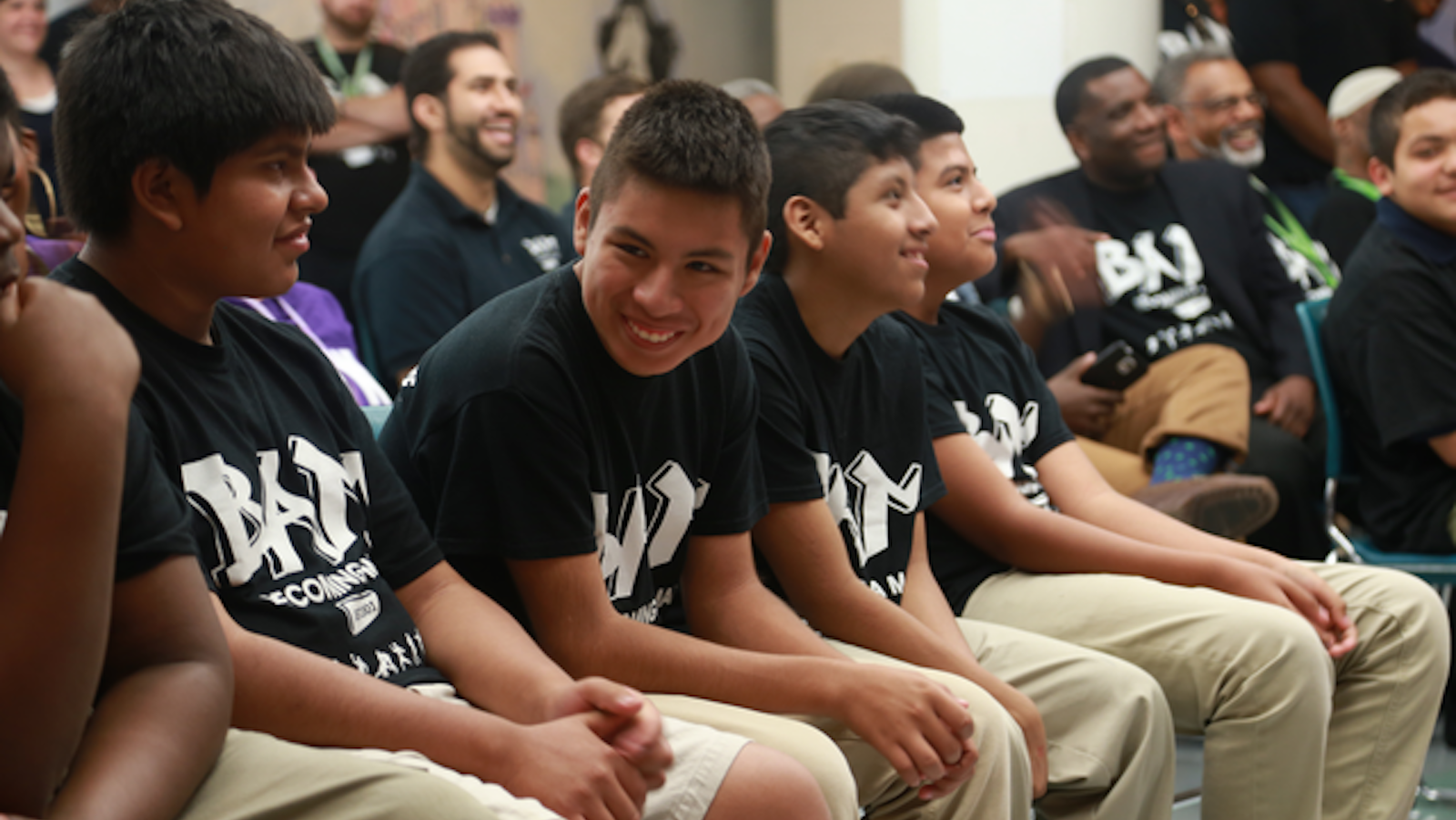 Chicago teens participating in a Becoming a Man workshop