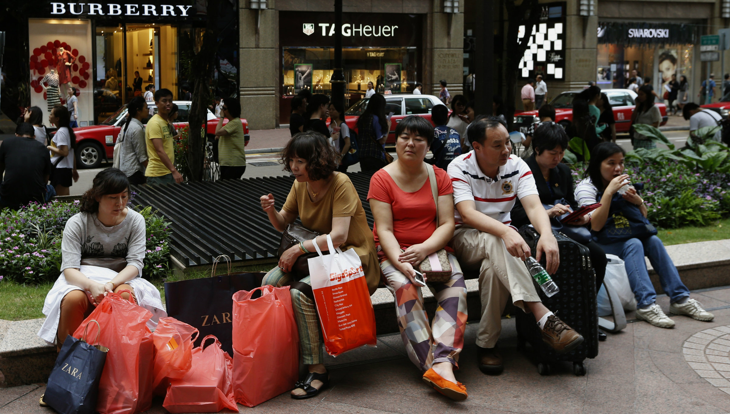 Chinese shoppers in Hong Kong