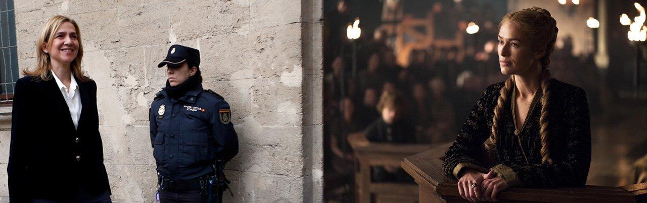 Princess Cristina as Cersei Lannister. (Reuters / Paul Hanna / HBO)
