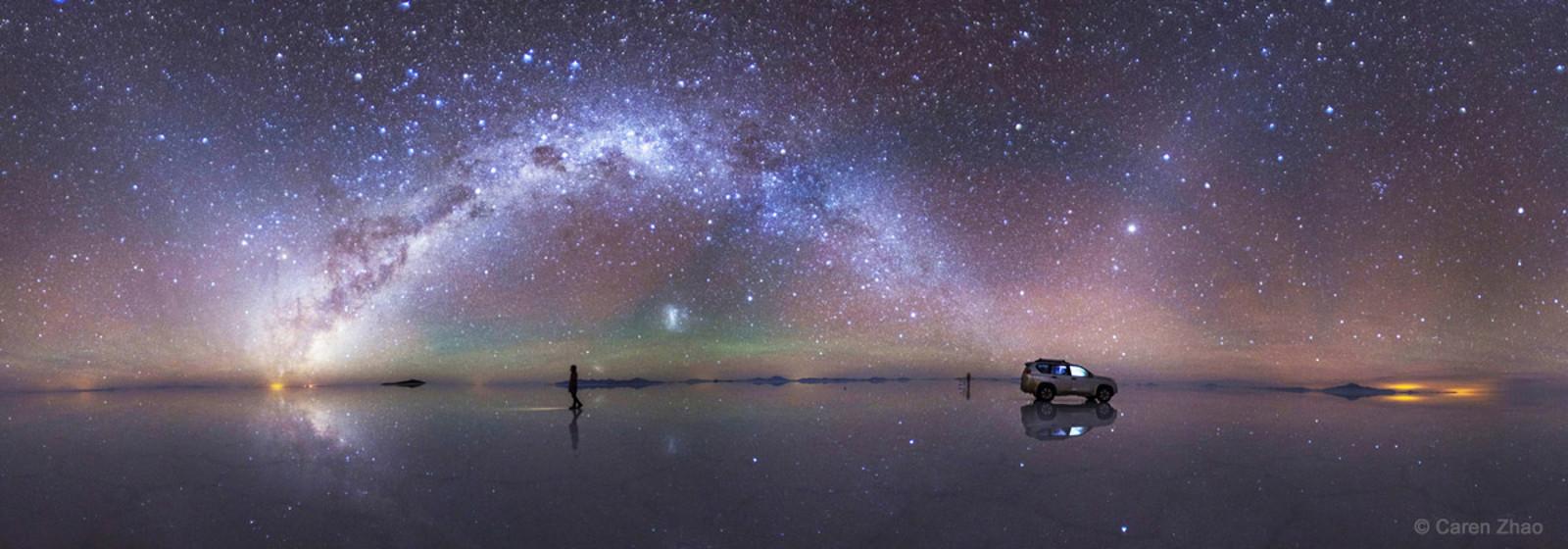"""Strolls in the Star River"" in the Bolivian Salar de Uyuni by Caren Zhao"