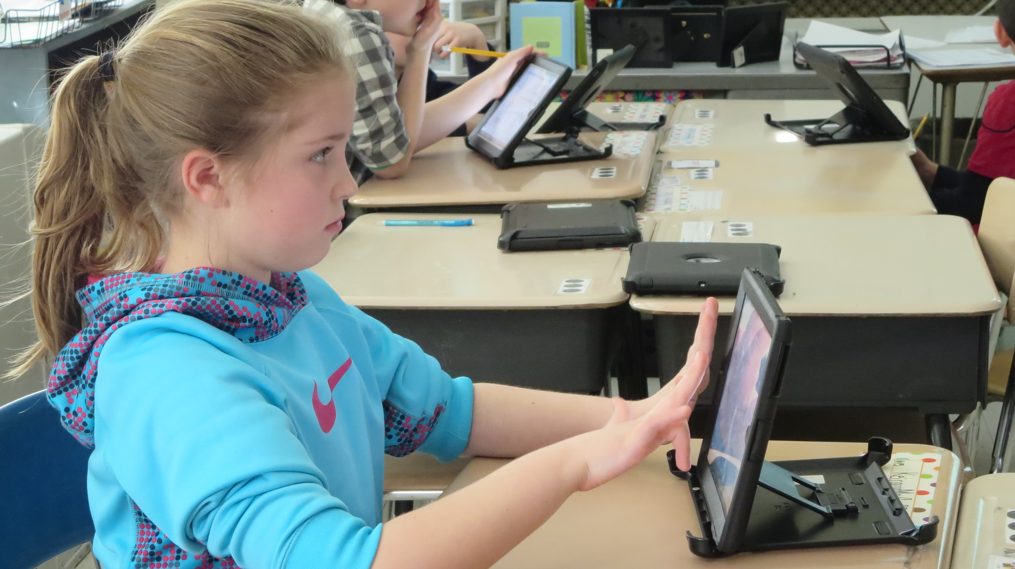 These third graders spend 75% of their day on iPads, and their teacher doesn't mind a bit