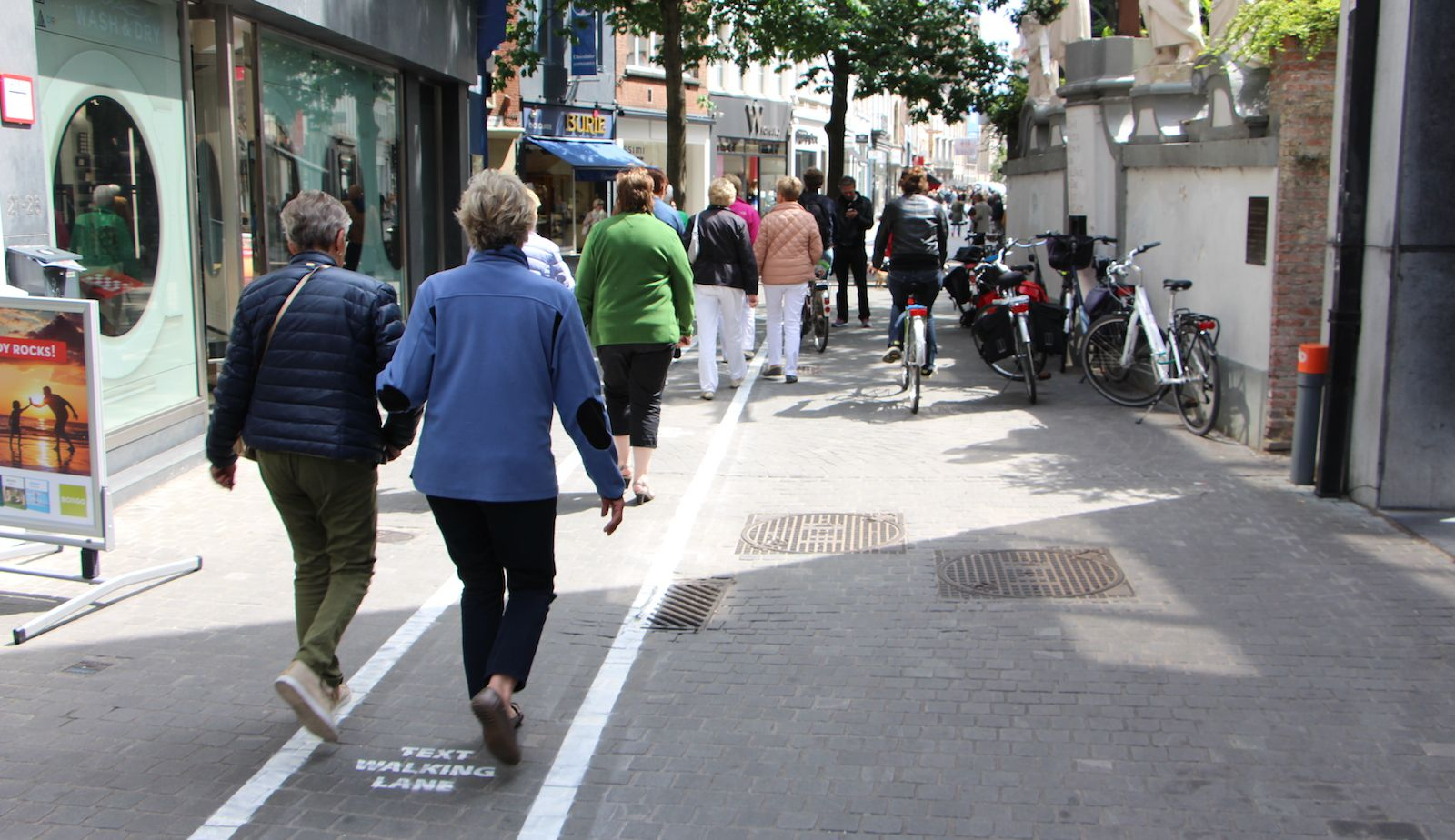 Mlab text-walking lanes in Antwerp