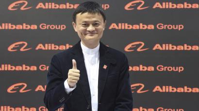 Alibaba founder and chairman Jack Ma poses for the media while touring the CeBIT trade fair in Hanover March 16, 2015. The world's biggest computer and software fair will open to the public from March 16 to 20. REUTERS/Fabian Bimmer