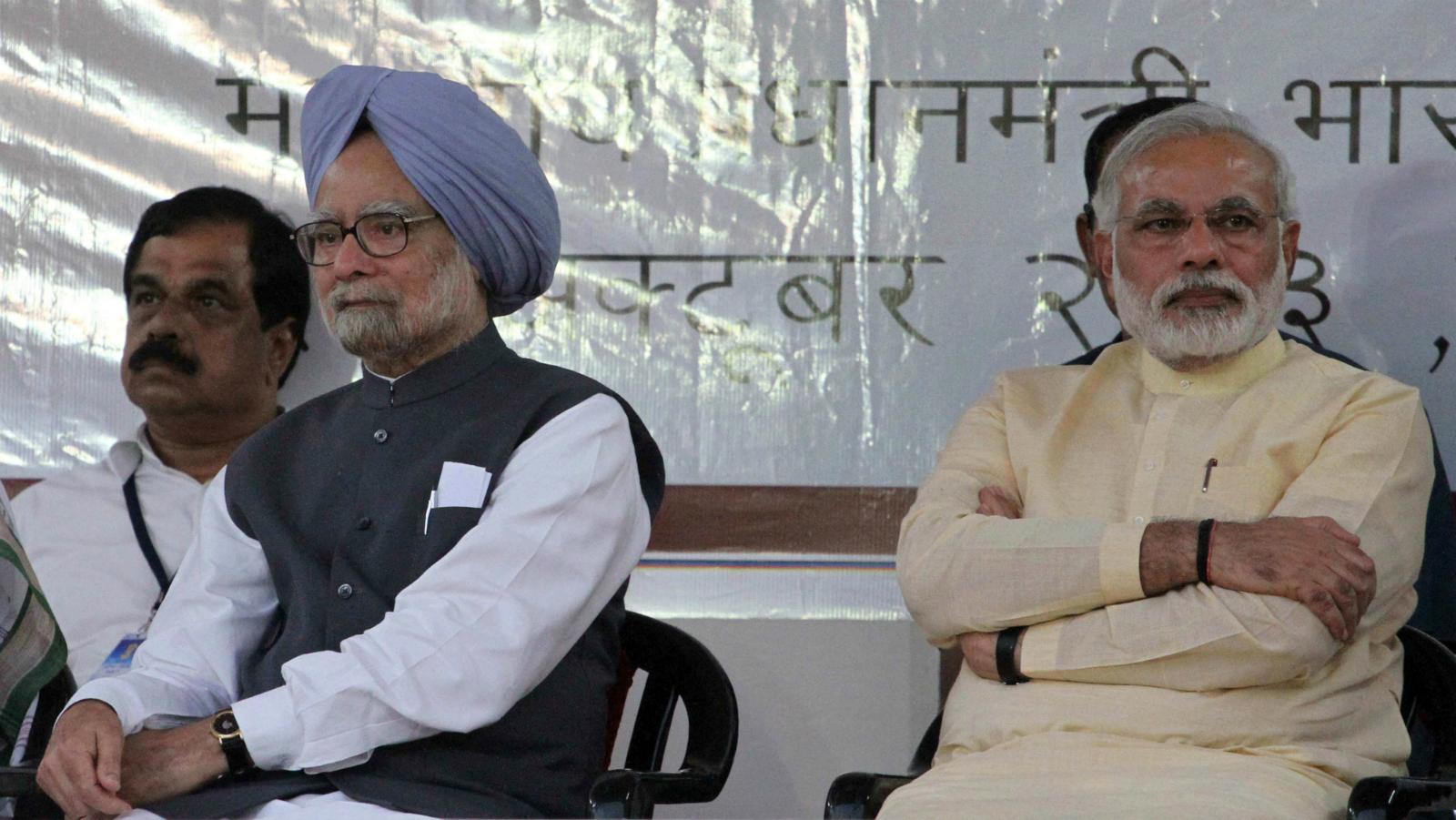 India-Manmohan Singh-Narendra Modi