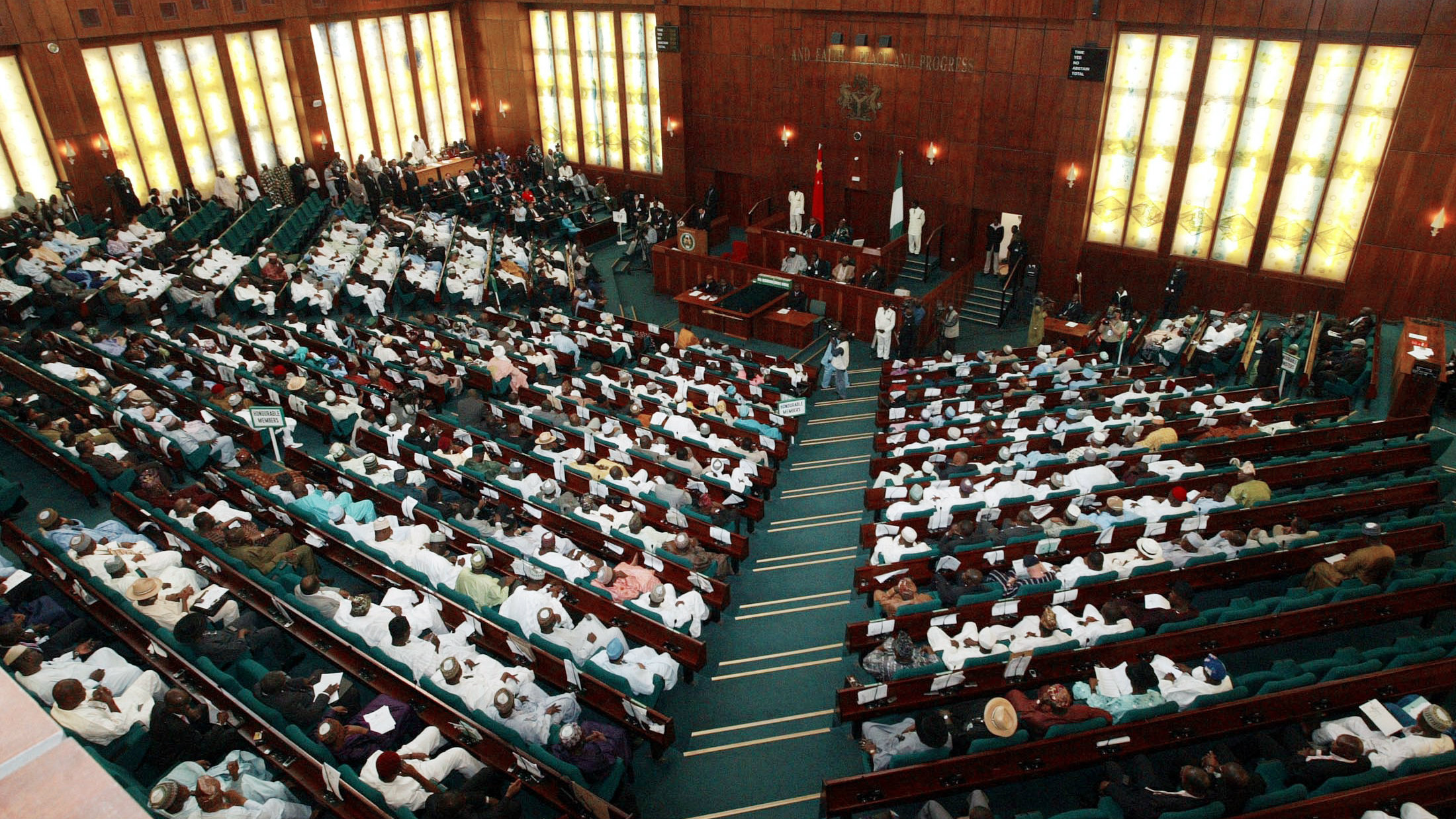 The Nigerian senate is live-streaming its legislative