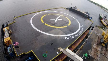 "New ""Of Course I Still Love You"" drone ship ready for Sunday's rocket landing attempt."