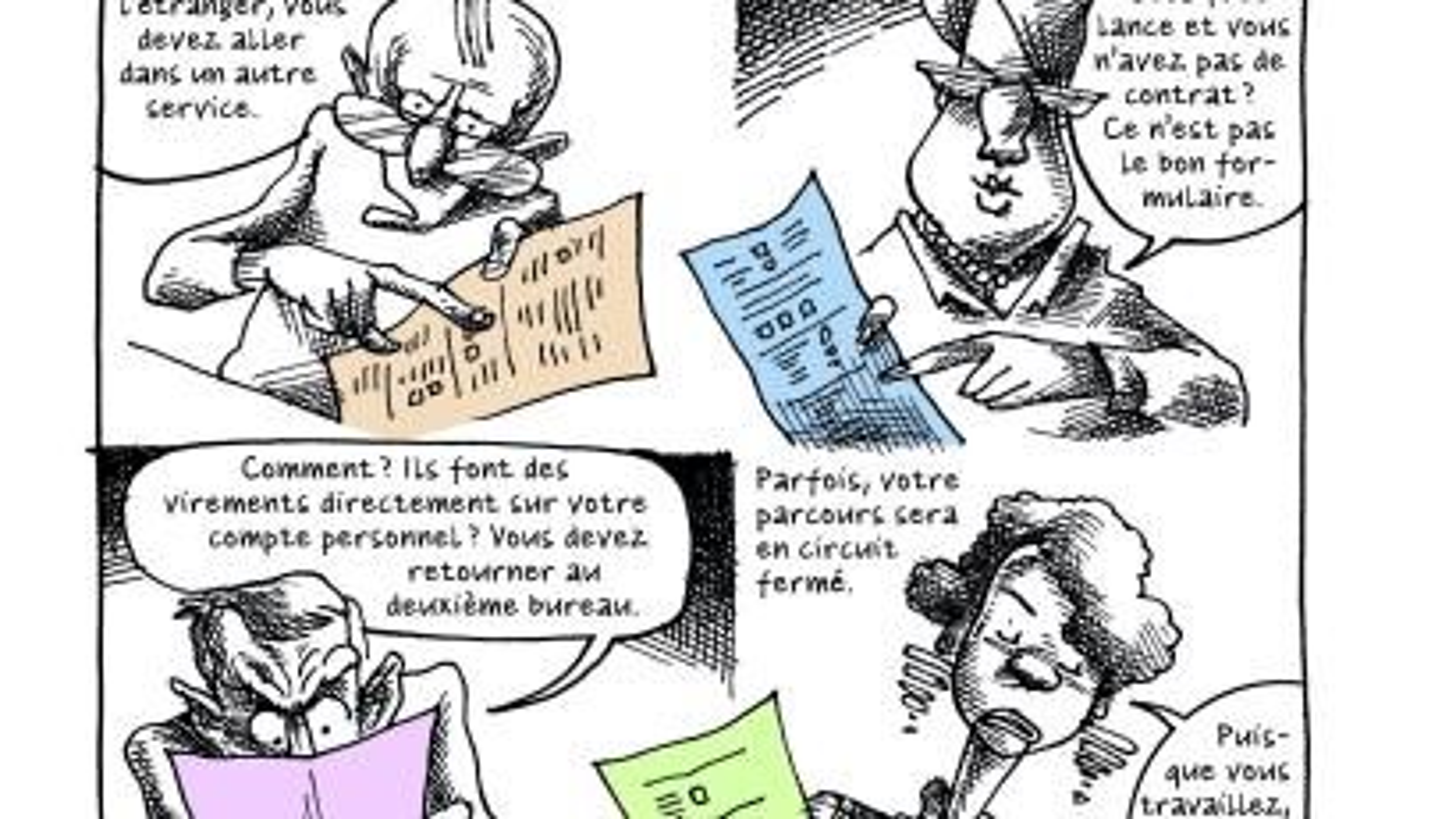 "Petit manuel to parfait réfugié politique (""A short guide to being the perfect political refugee,"" Page 102"
