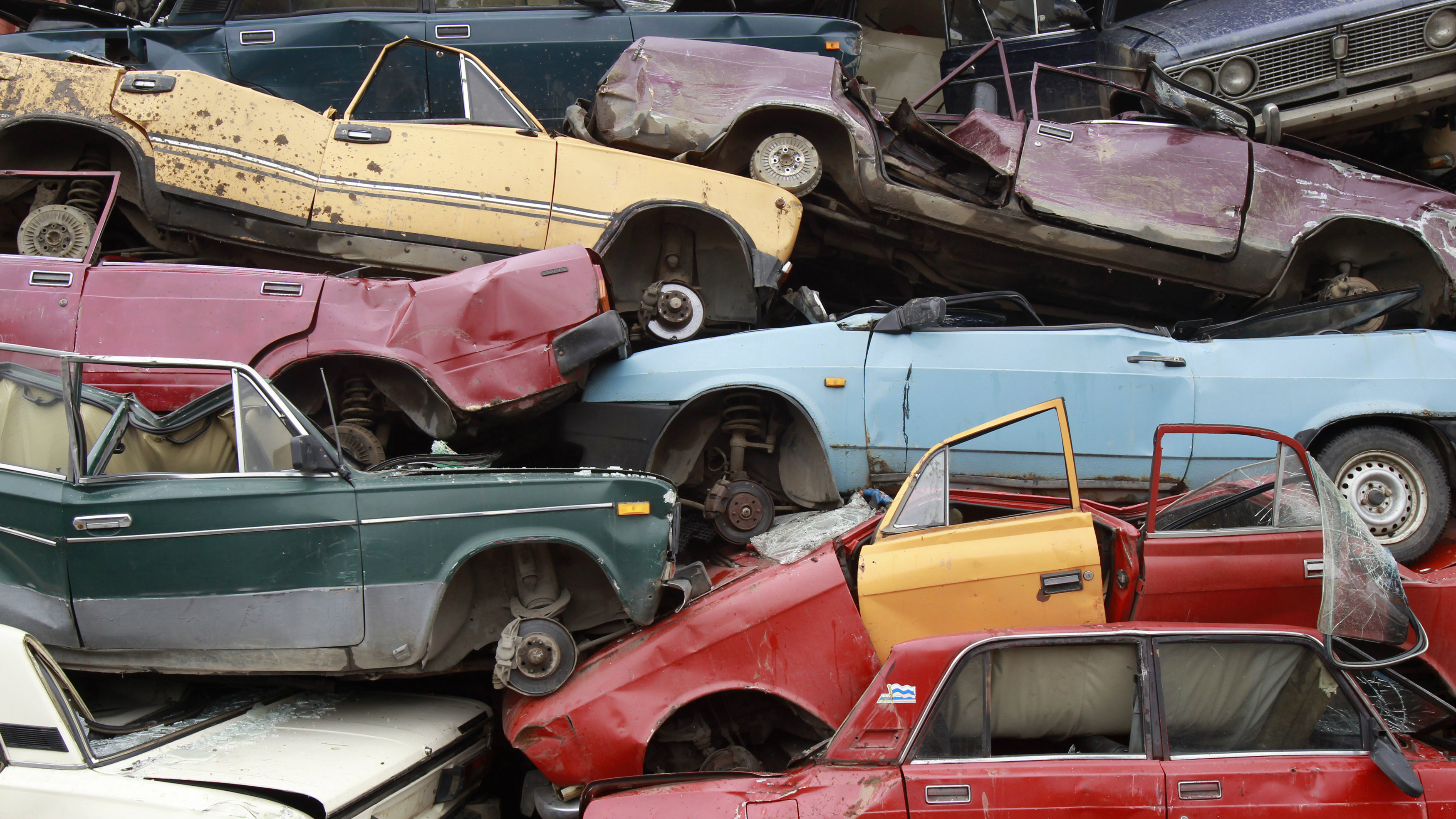 pile of old cars