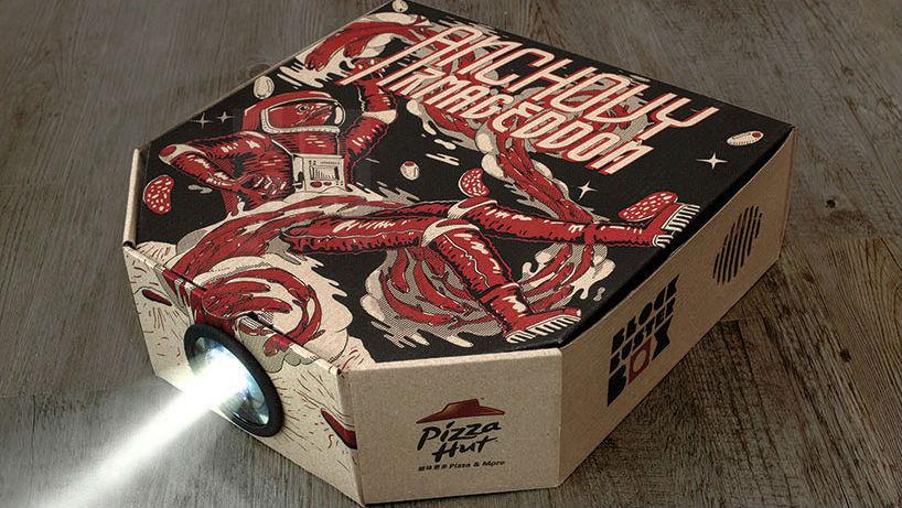 Pizza Hut movie projector box
