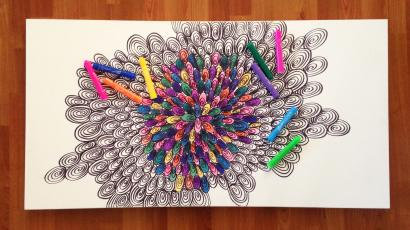 Coloring in this picture helped me erase $26,000 in debt ...