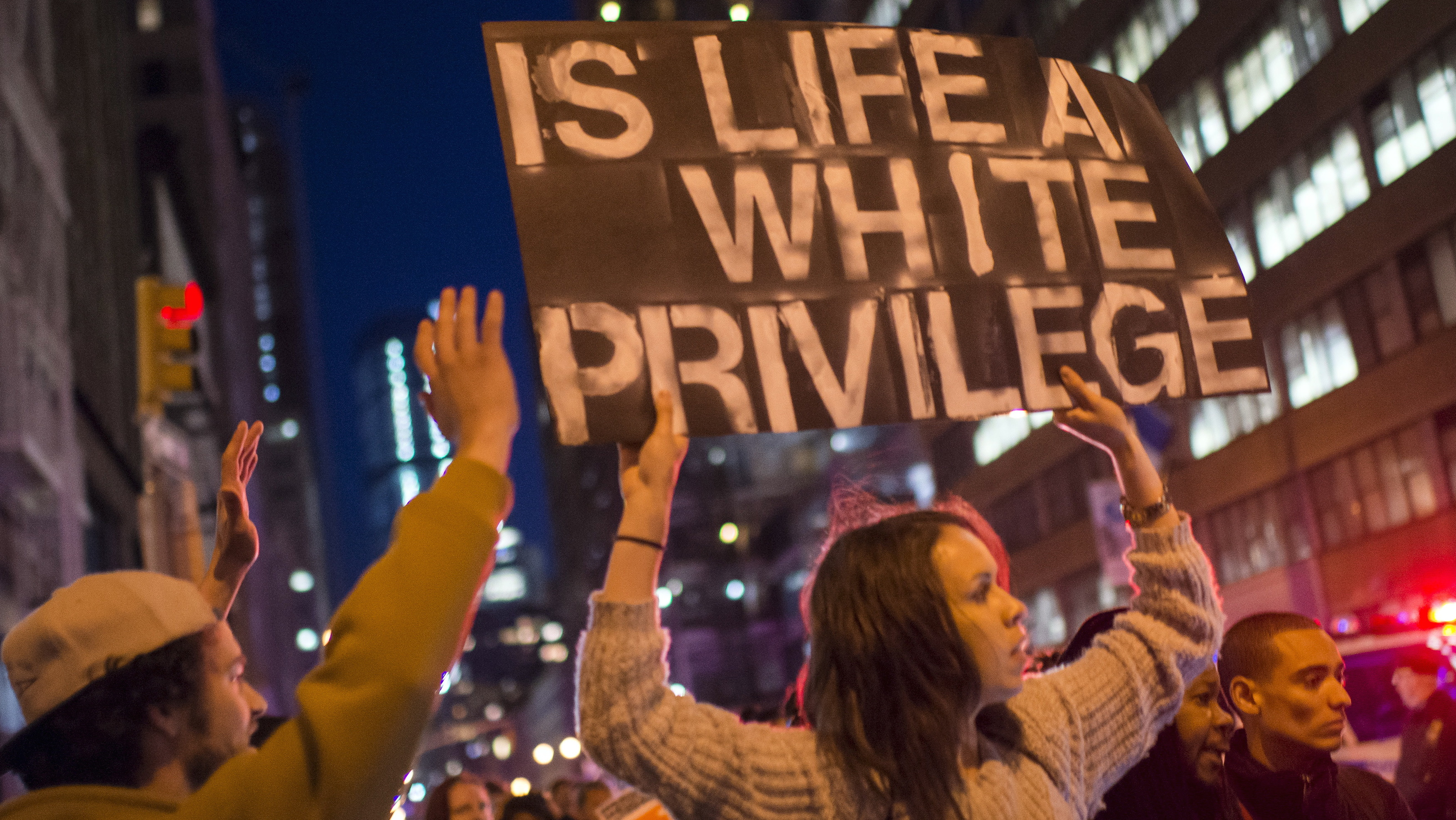 Demonstrators calling for social, economic and racial justice march in New York