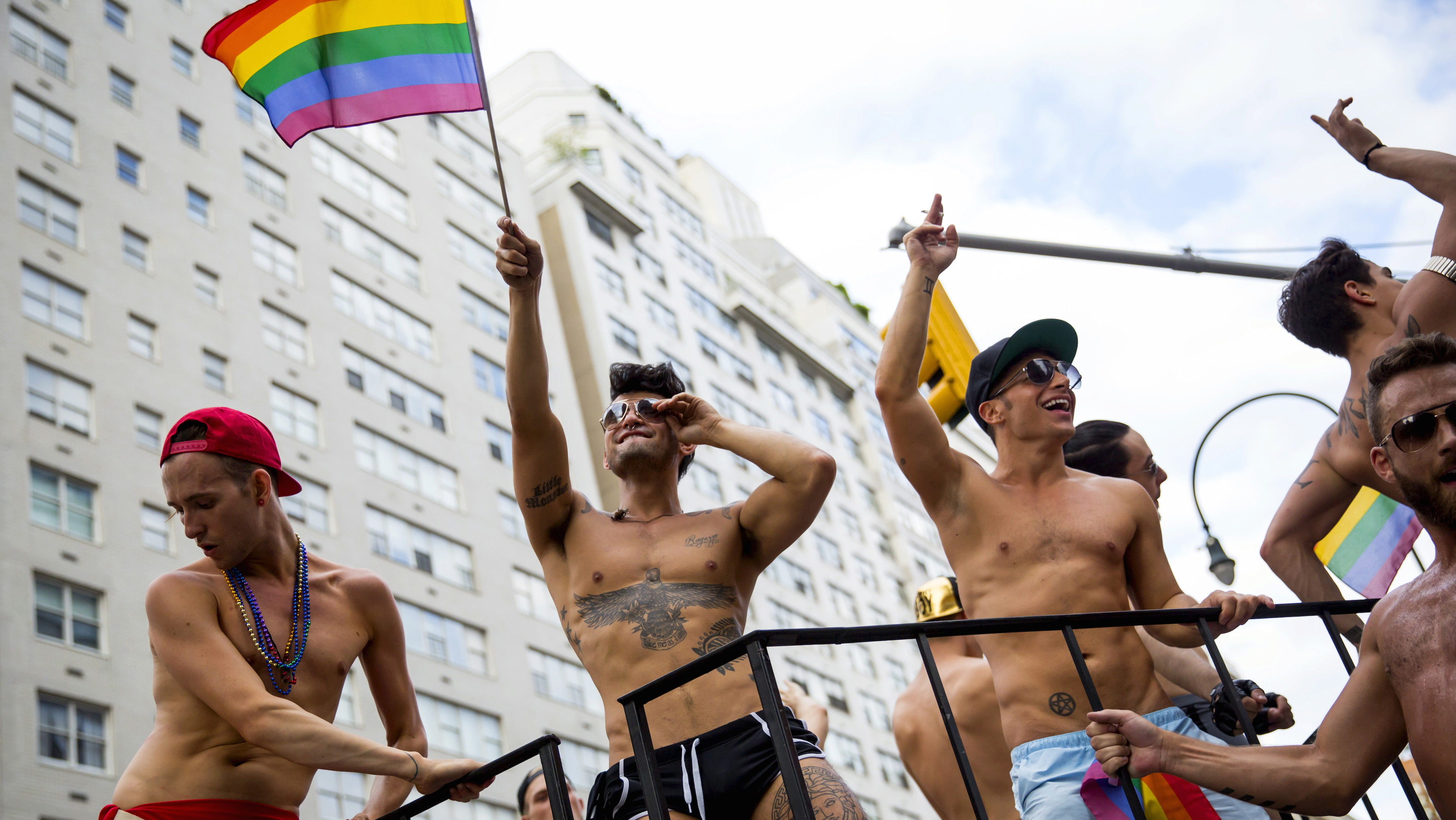 People march in the annual NYC Pride March in New York City