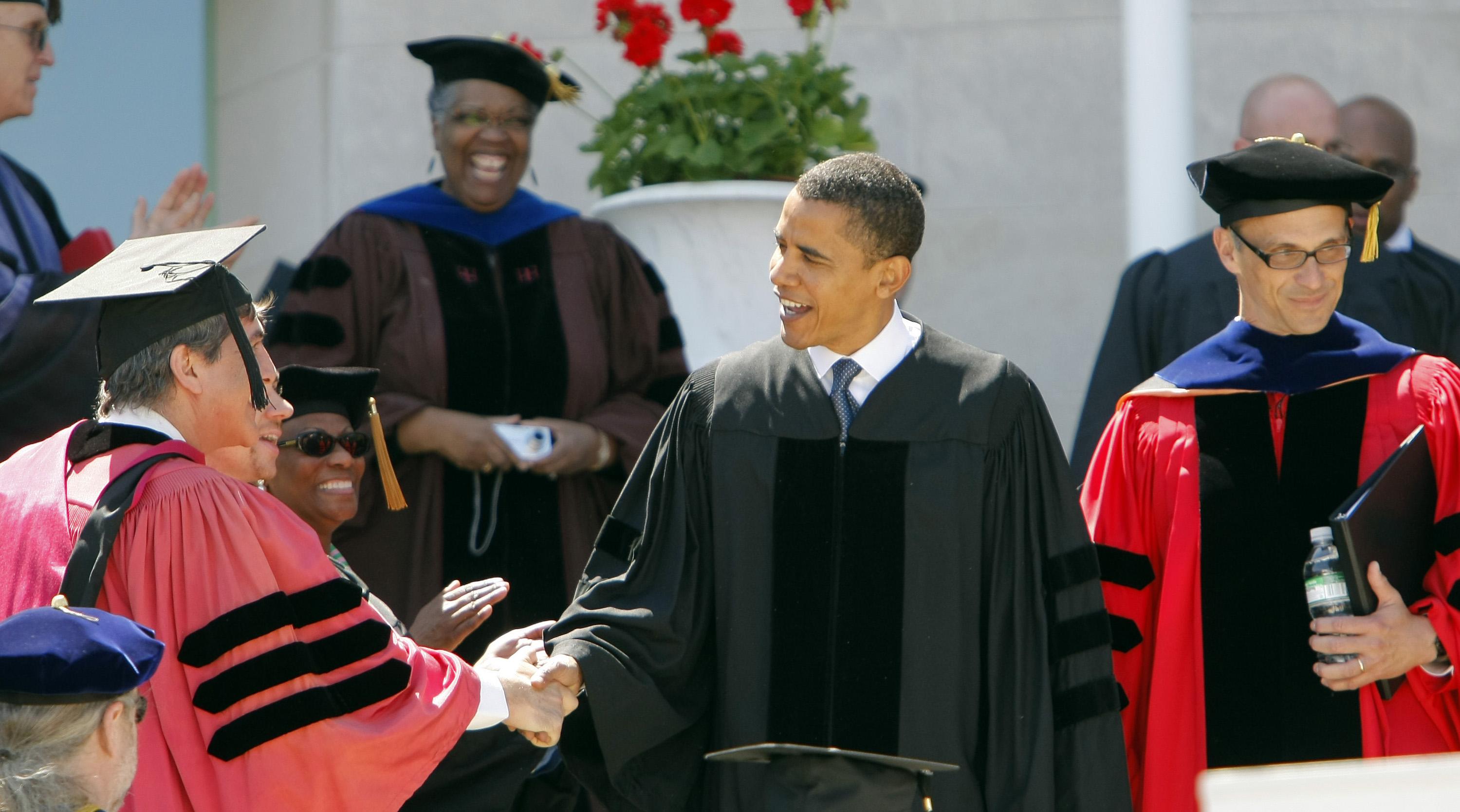 Obama addresses graduates at Wesleyan University in Middletown