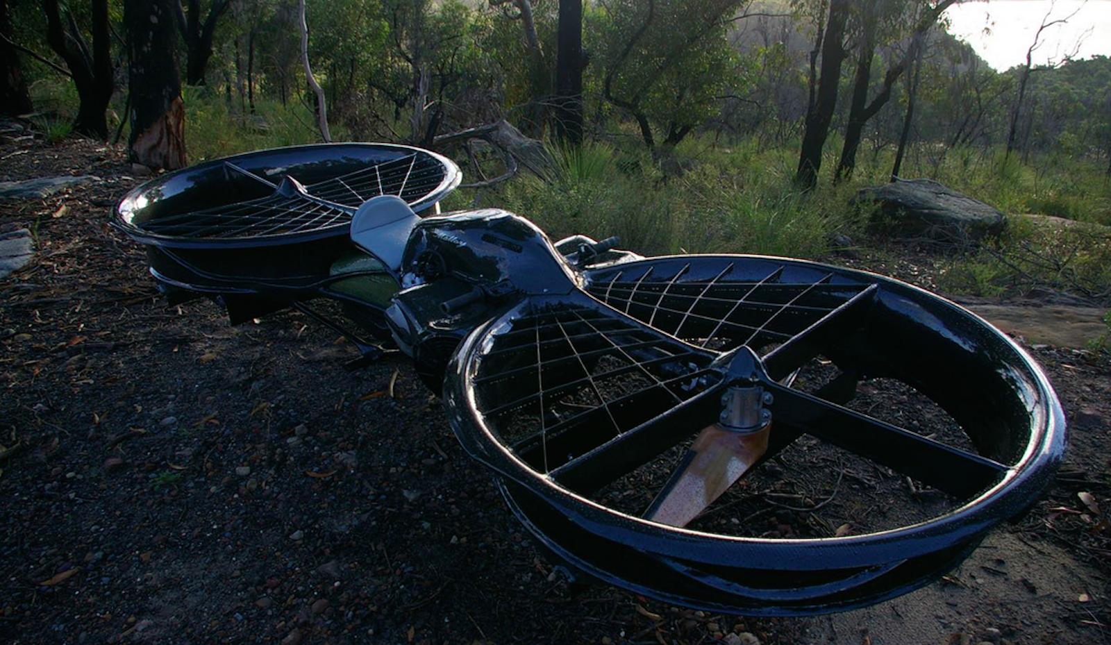 The new hoverbike developed by Malloy Aeronautics