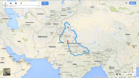 Even Google Maps knows how dysfunctional India-stan relations ... on