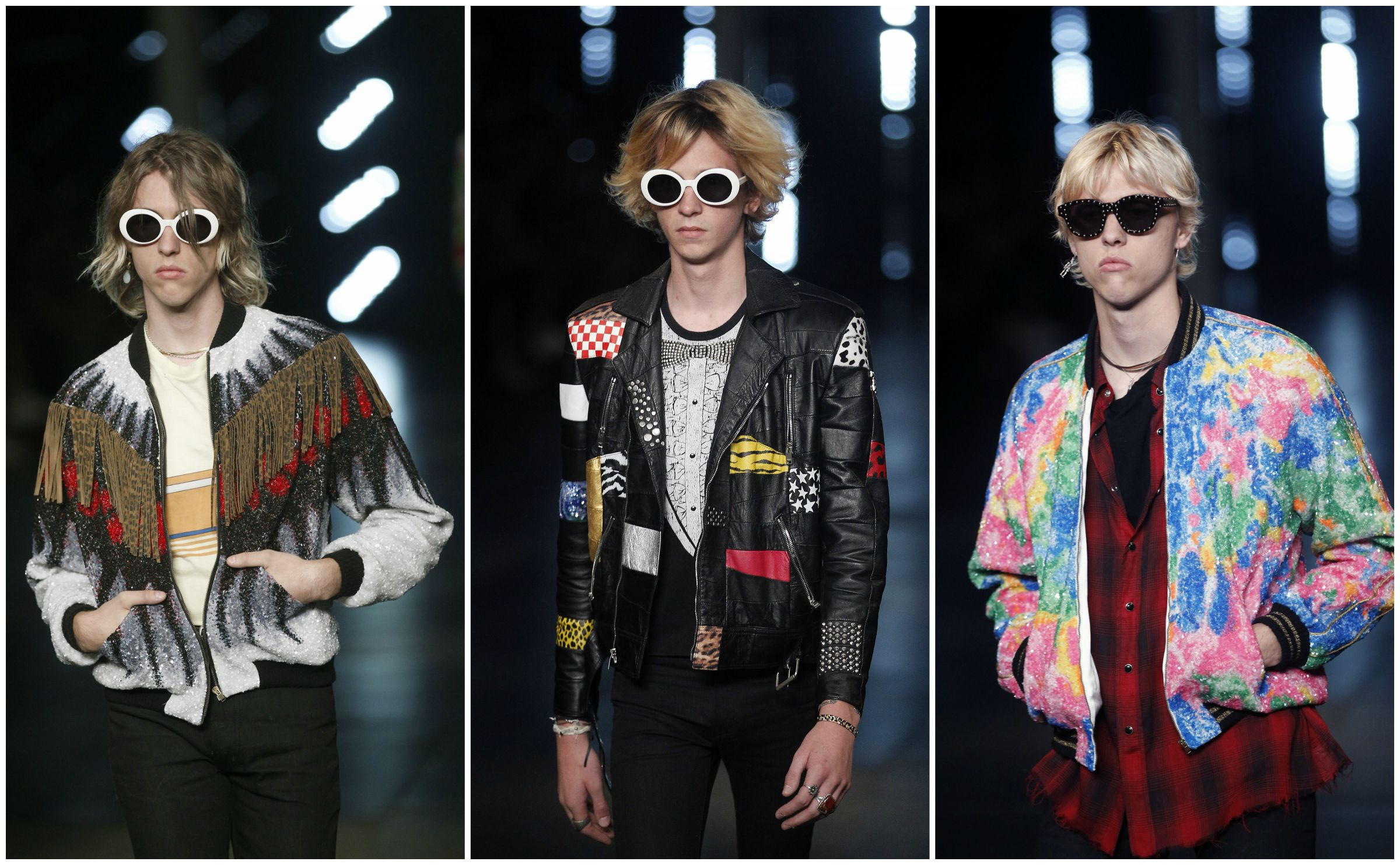 Models walk the runway during the Saint Laurent Menswear Spring/Summer 2016 show as part of Paris Fashion Week on June 28, 2015 in Paris, France.