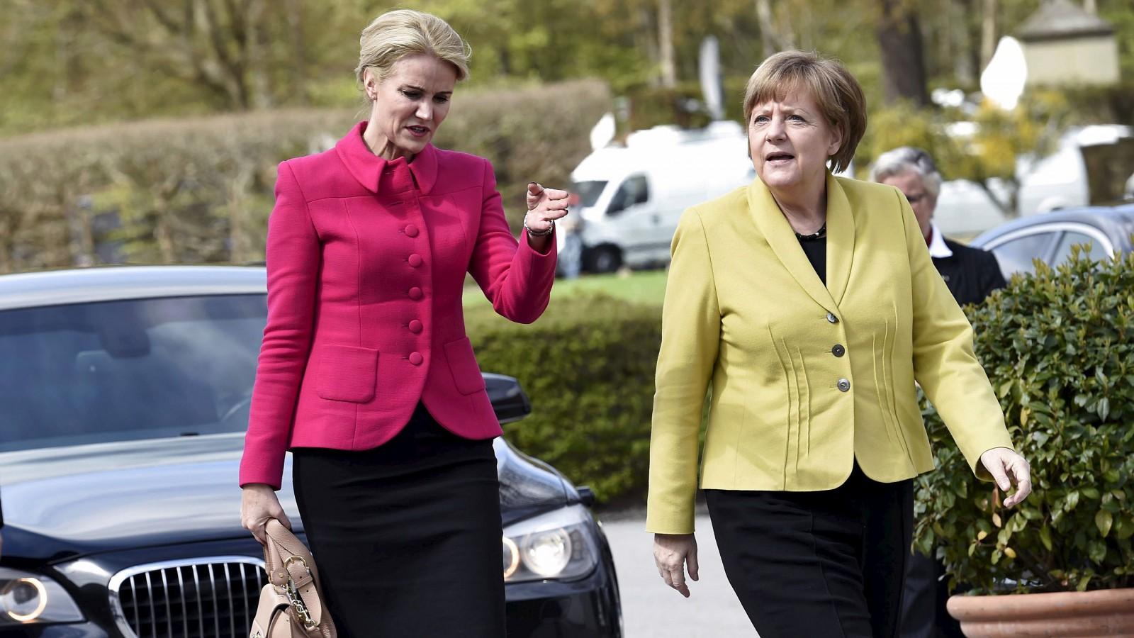 Helle Thorning-Schmidt and Angela Merkel.