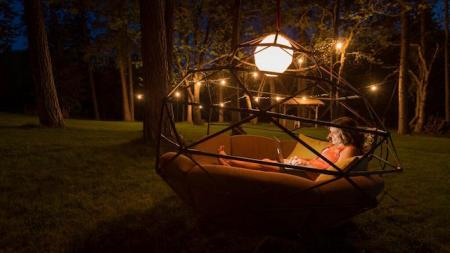 This Part Hammock Part Bed Geodesic Dome Will Elevate Your Summer Lounging Quartz