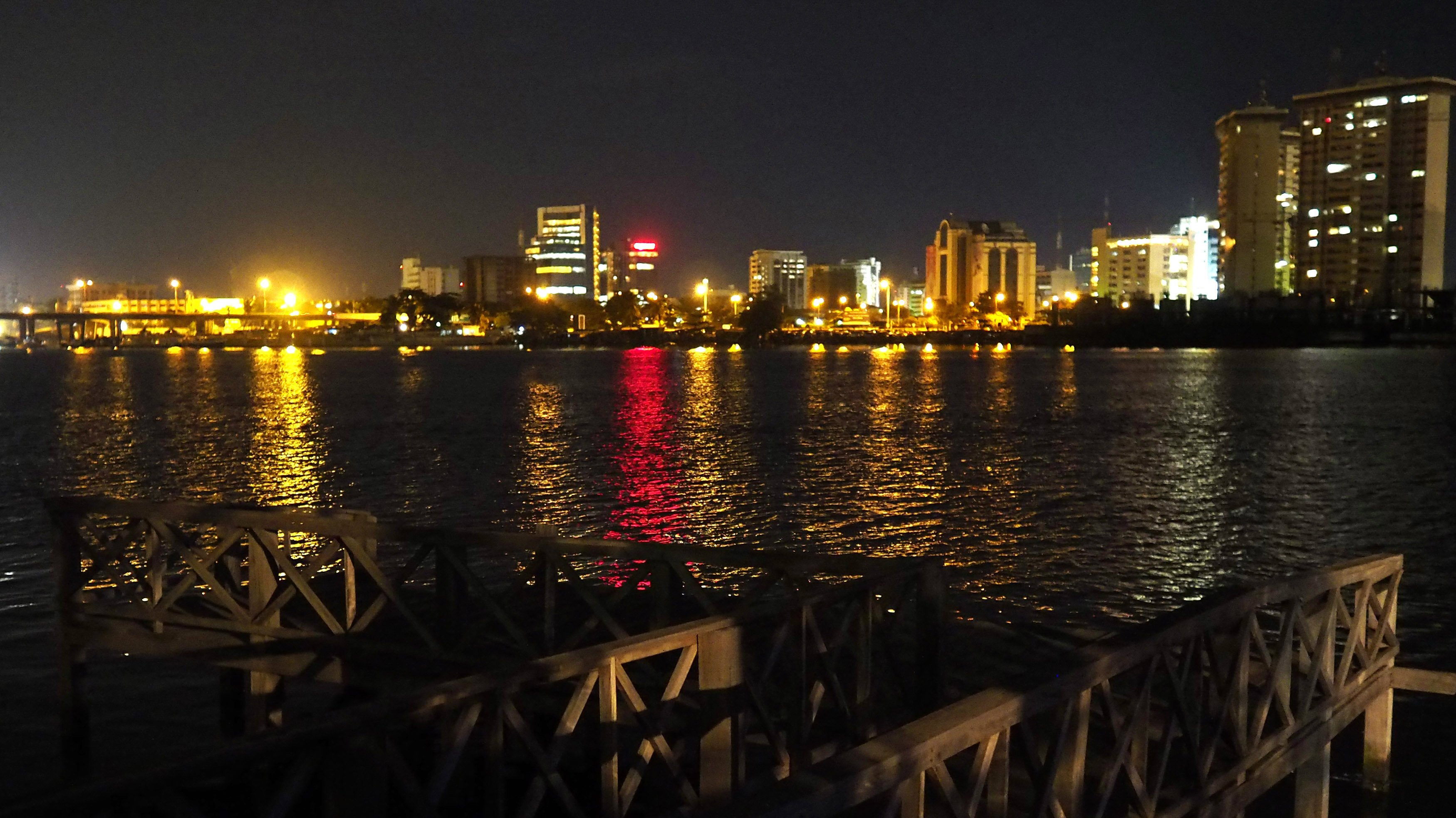 The Victoria Island waterfront is seen from the Ikoyi neighbourhood in Lagos June 3, 2014.