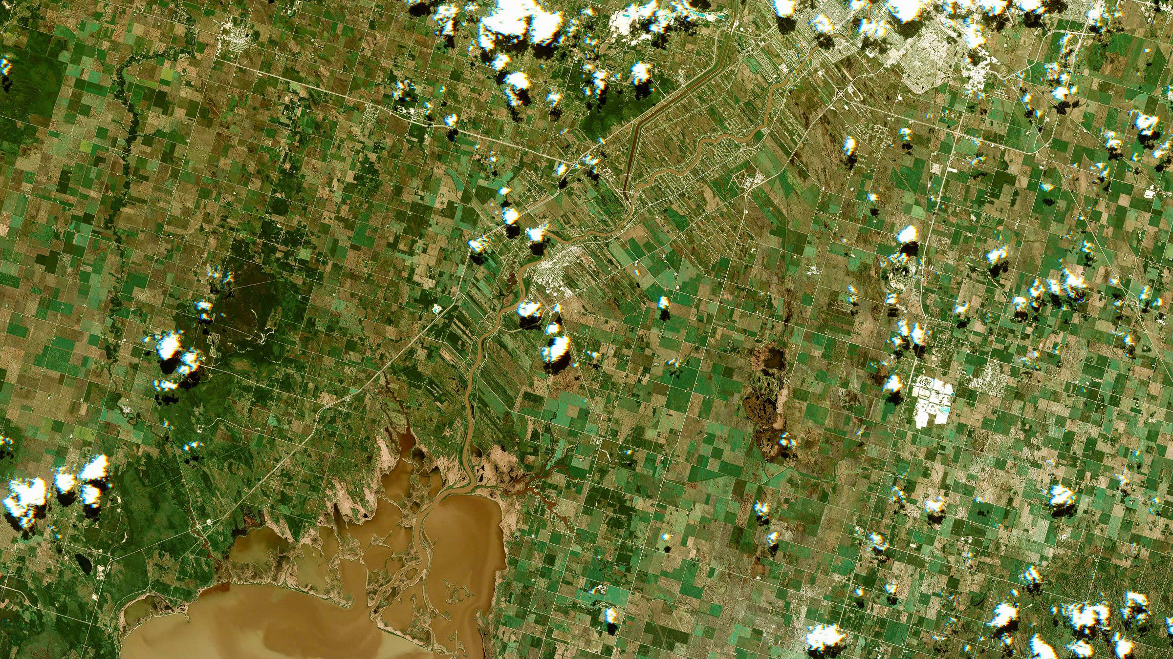 Winnipeg, Canada, seen from Urthecast's still camera on the ISS.