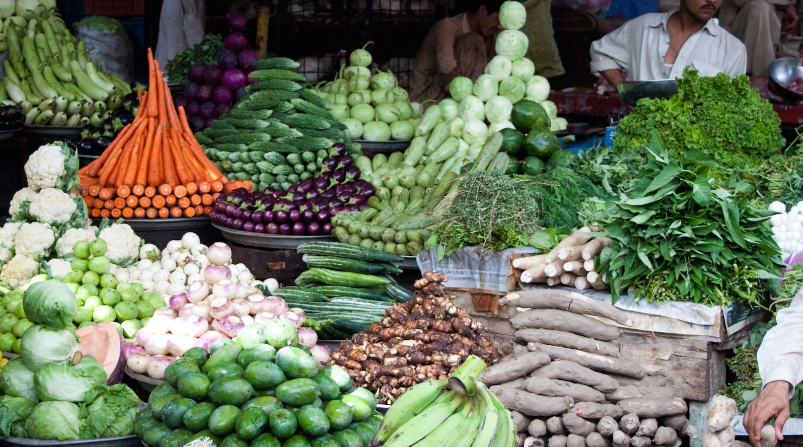 A vegetable stall at a market