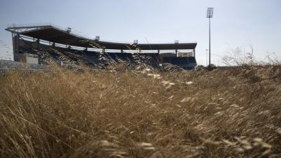 A deserted Olympic stadium in Athens