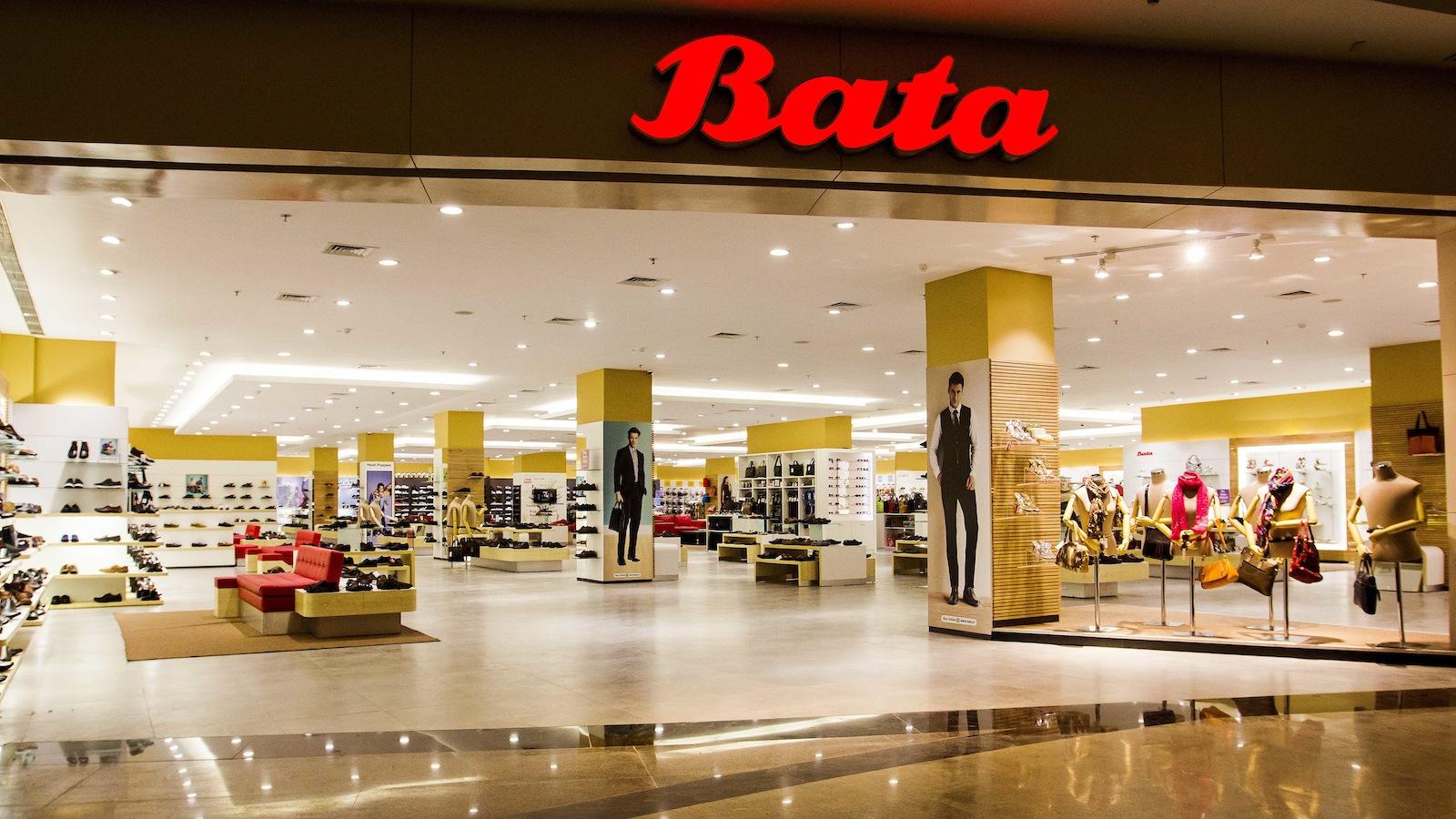 A Bata store in a mall.