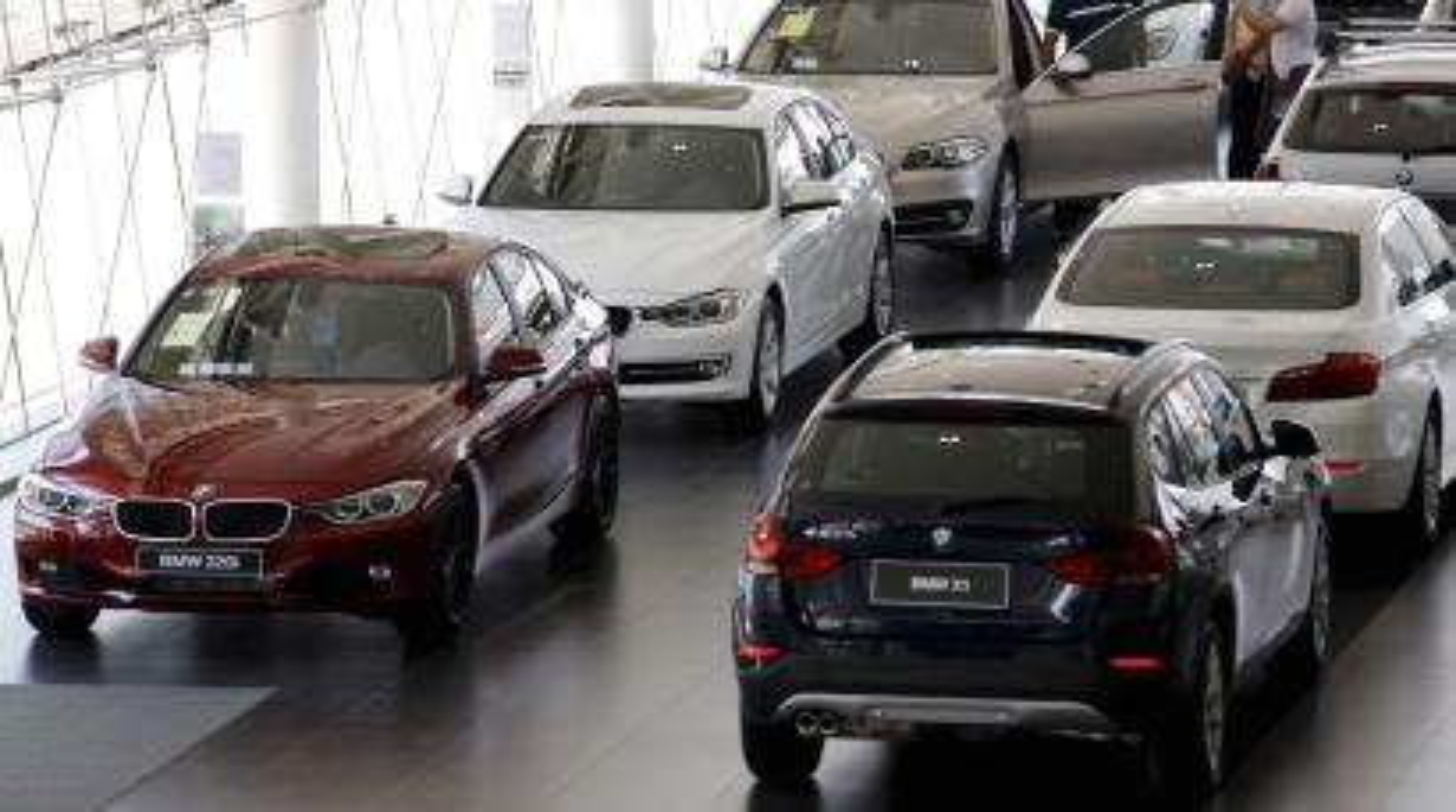 A BMW dealership in Beijing
