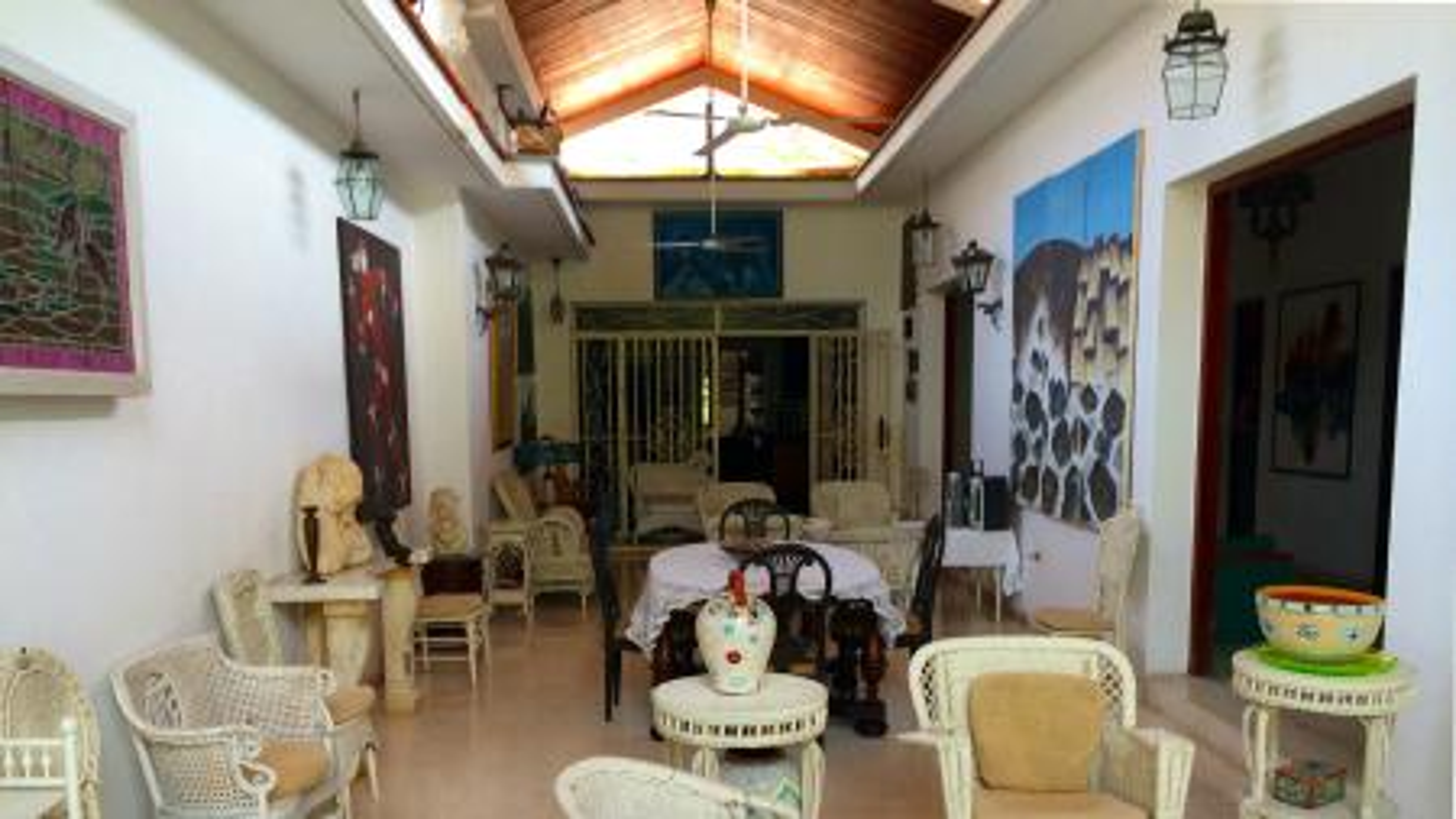 Inside a casa particular in Havana.