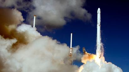 The SpaceX Falcon 9 rocket and Dragon spacecraft lifts off from Space Launch Complex 40 at the Cape Canaveral Air Force Station in Cape Canaveral, Fla., Sunday, June 28, 2015. The rocket carrying supplies to the International Space Station broke apart shortly after liftoff.