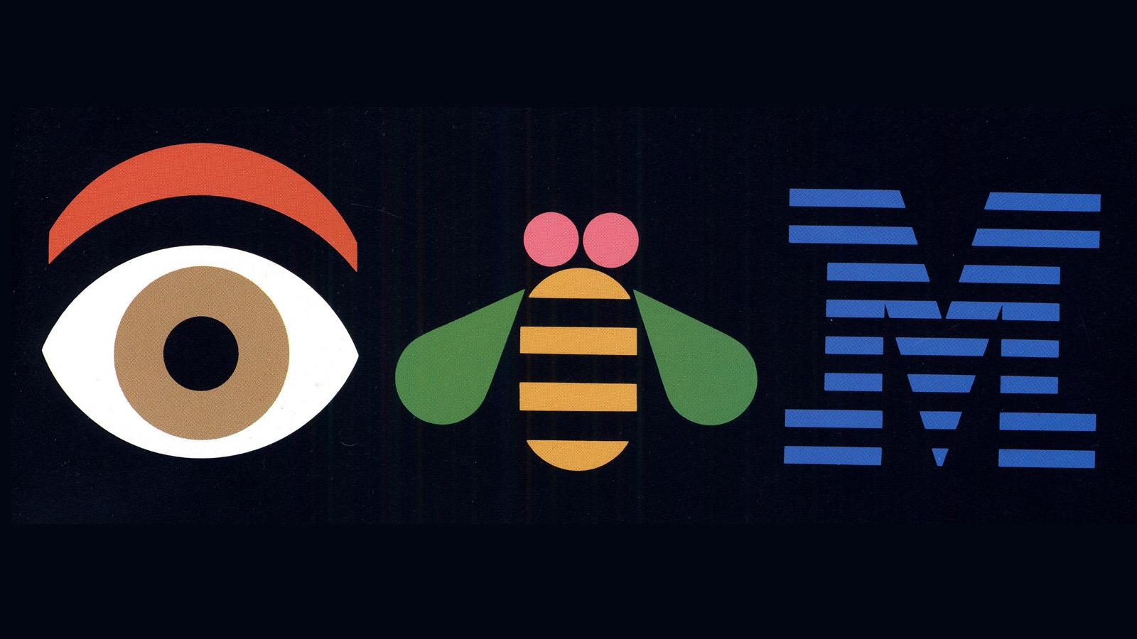 Paul Rand's IBM rebus, 1988