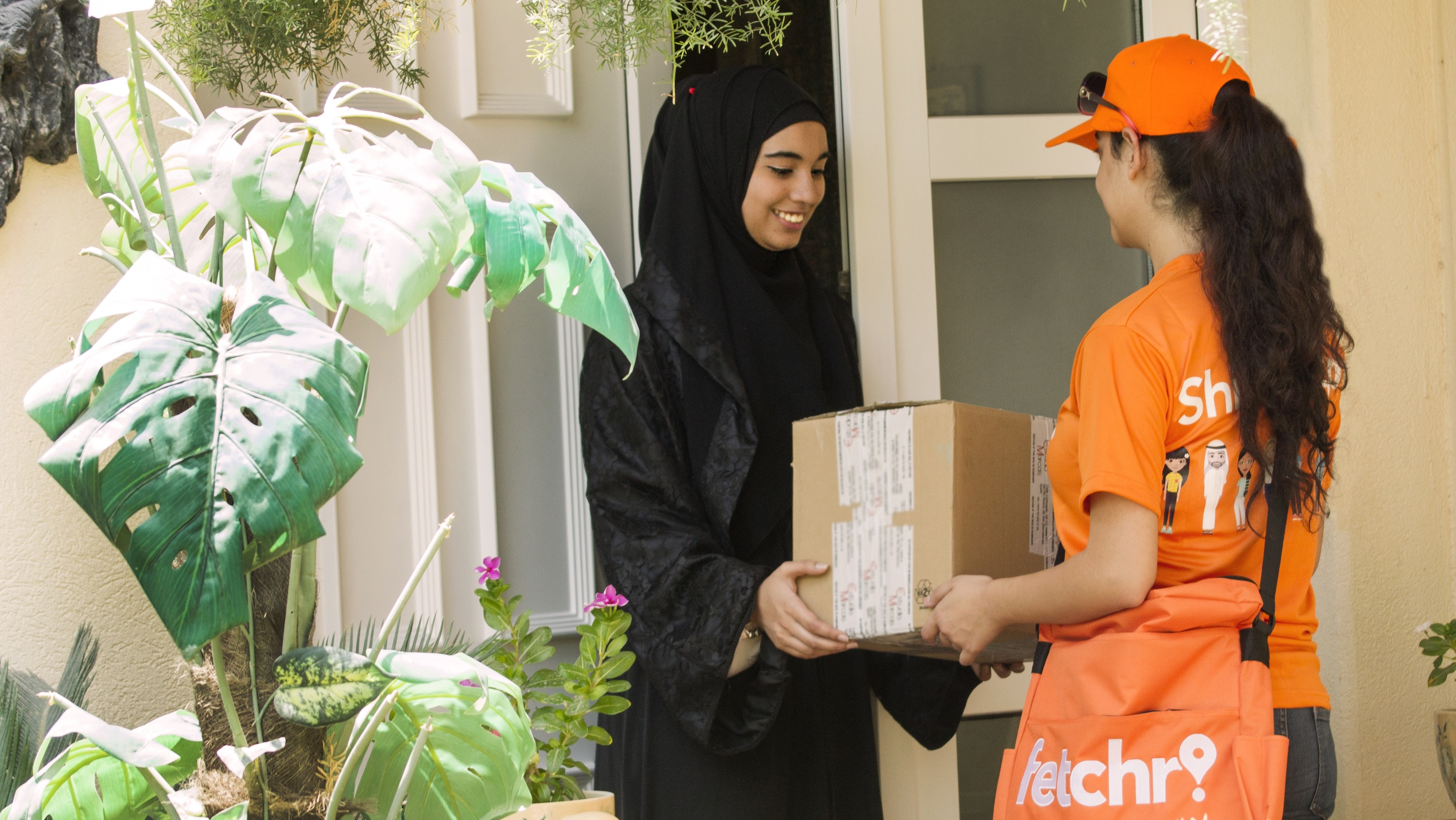 Cash-on-delivery culture, lack of house numbering, and traditional gender norms make package delivery rather difficult throughout the Middle East.