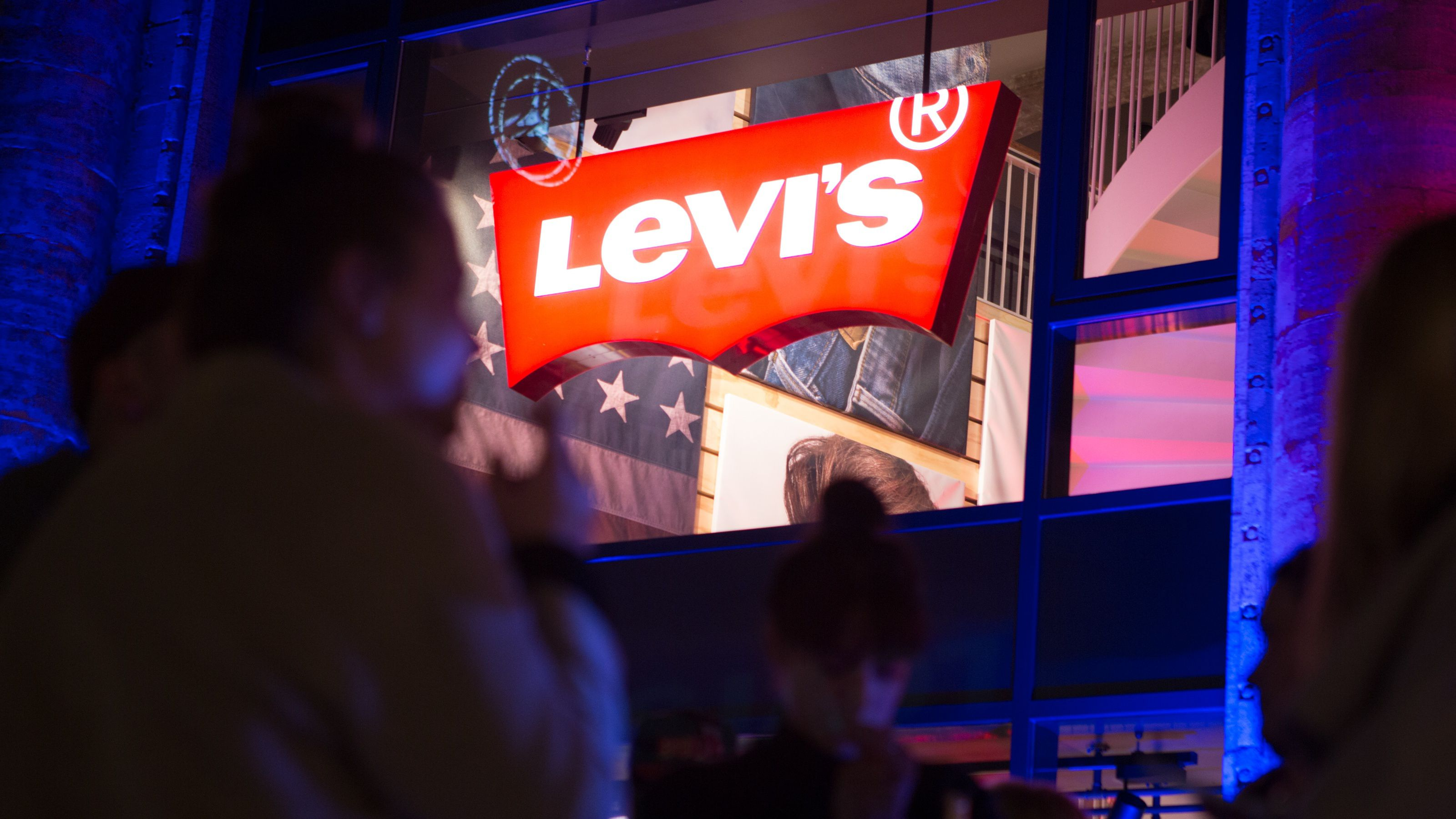 A view of the store entrance during the Levi's Flagship Store Re-Opening on March 25, 2015 in Berlin, Germany.