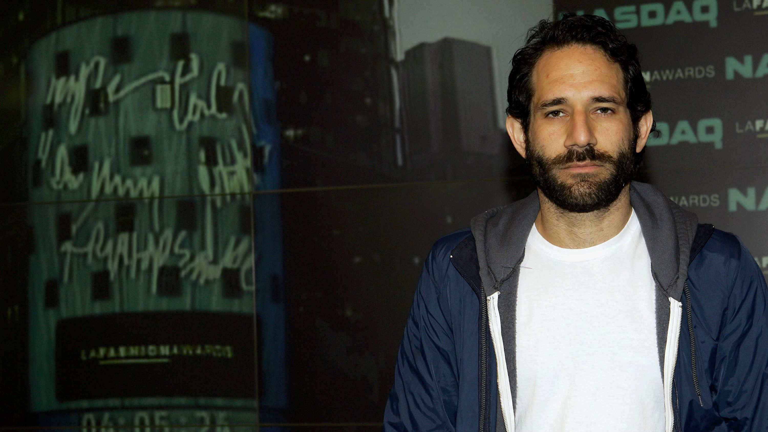 Dov Charney poses at The NASDAQ Stock Market in Times Square to ring the closing bell on September 15, 2006 in New York City.